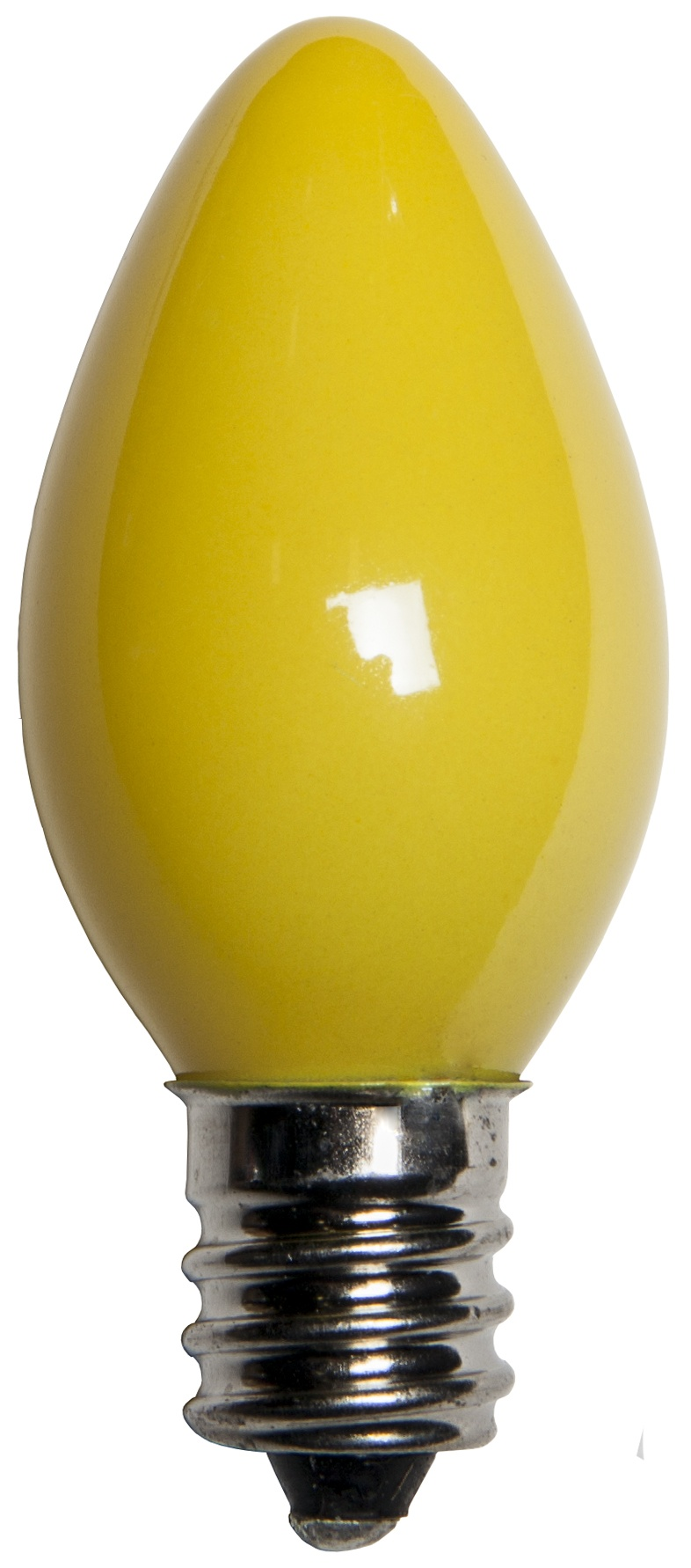 C7 Yellow Opaque Incandescent Bulb