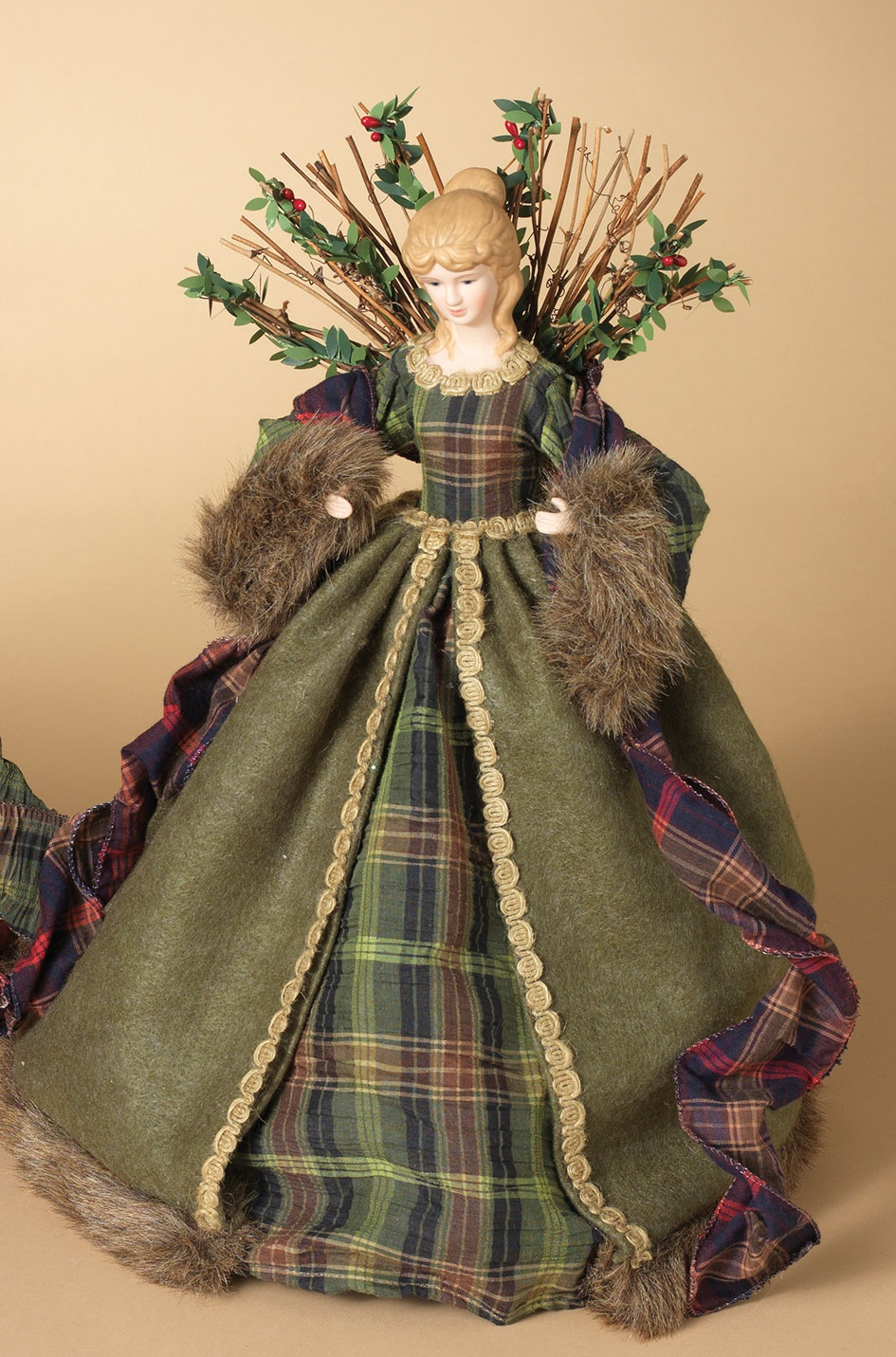 Green Woodland Angel Tree Topper