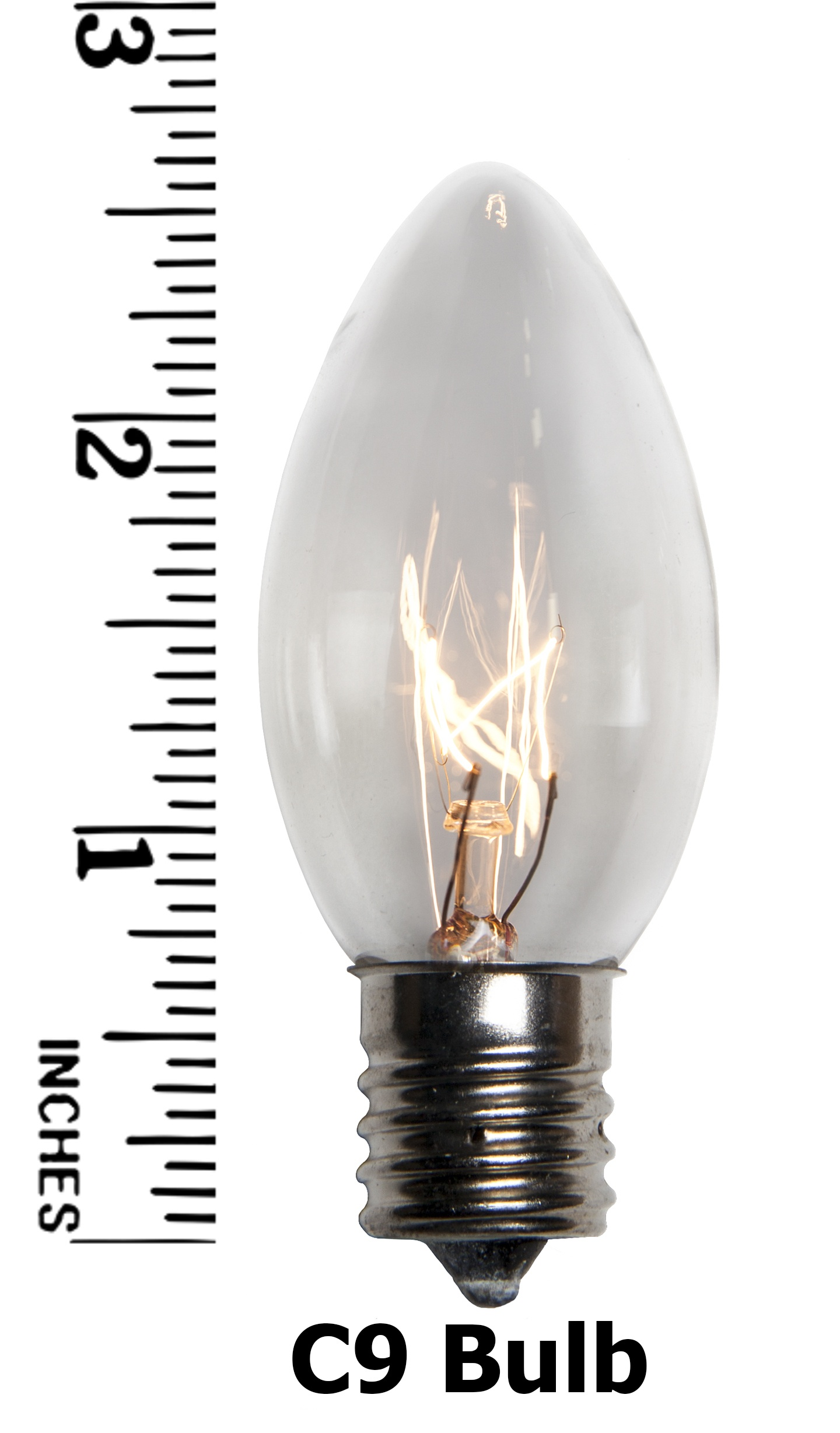 C9 Clear Incandescent Bulb