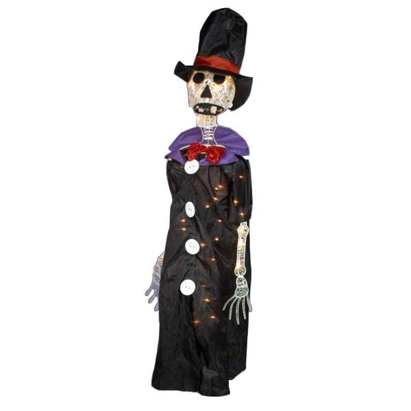 Halloween Decorations  Light Up Animated Skeleton - Interactive Halloween Decorations