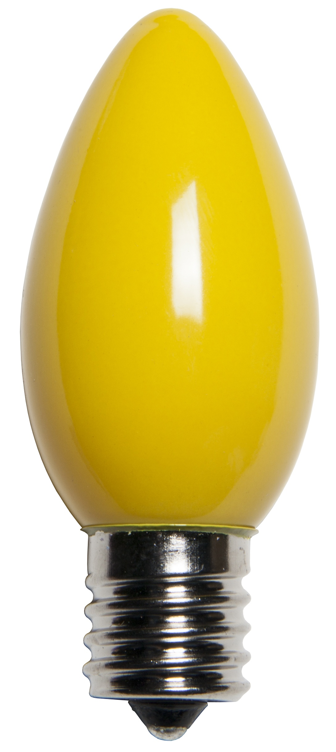 C9 Opaque Yellow Incandescent Bulb