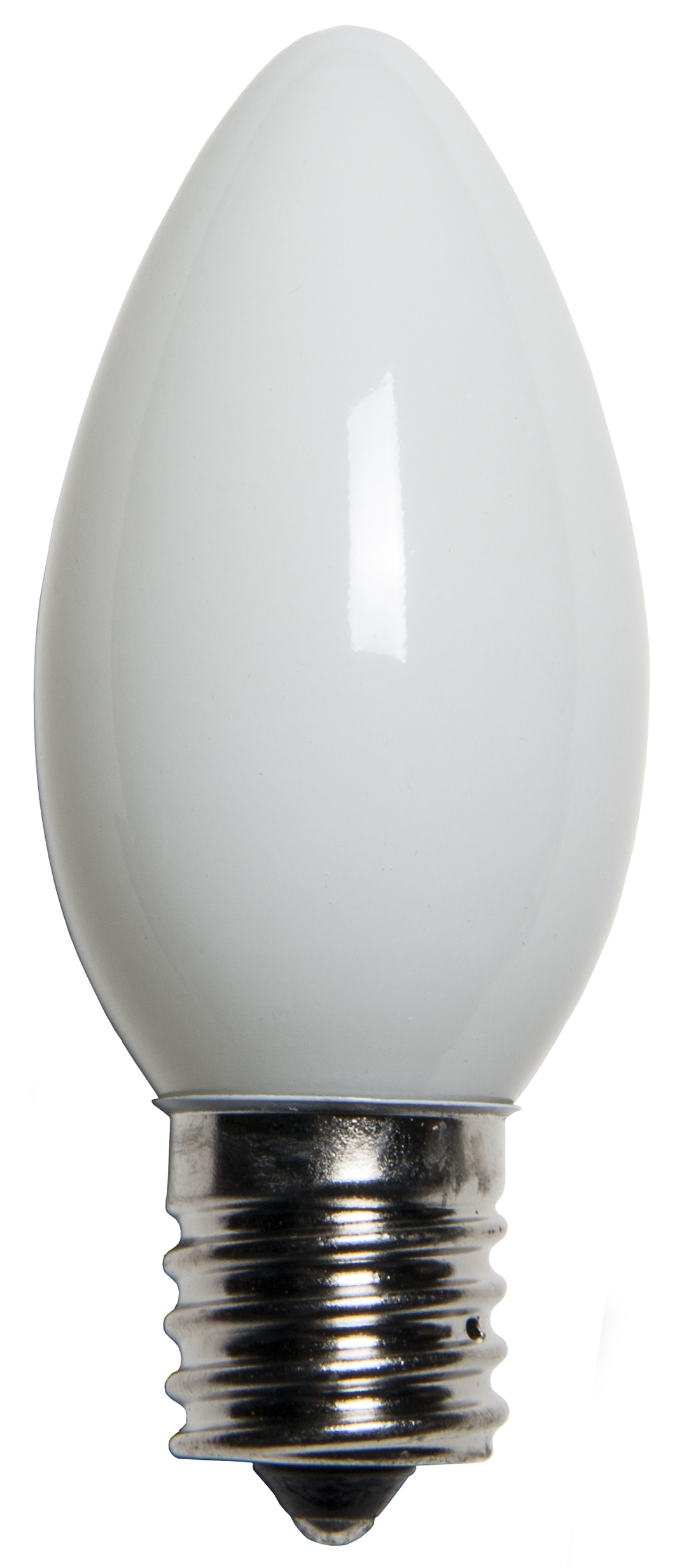 C9 White Opaque Incandescent Bulb