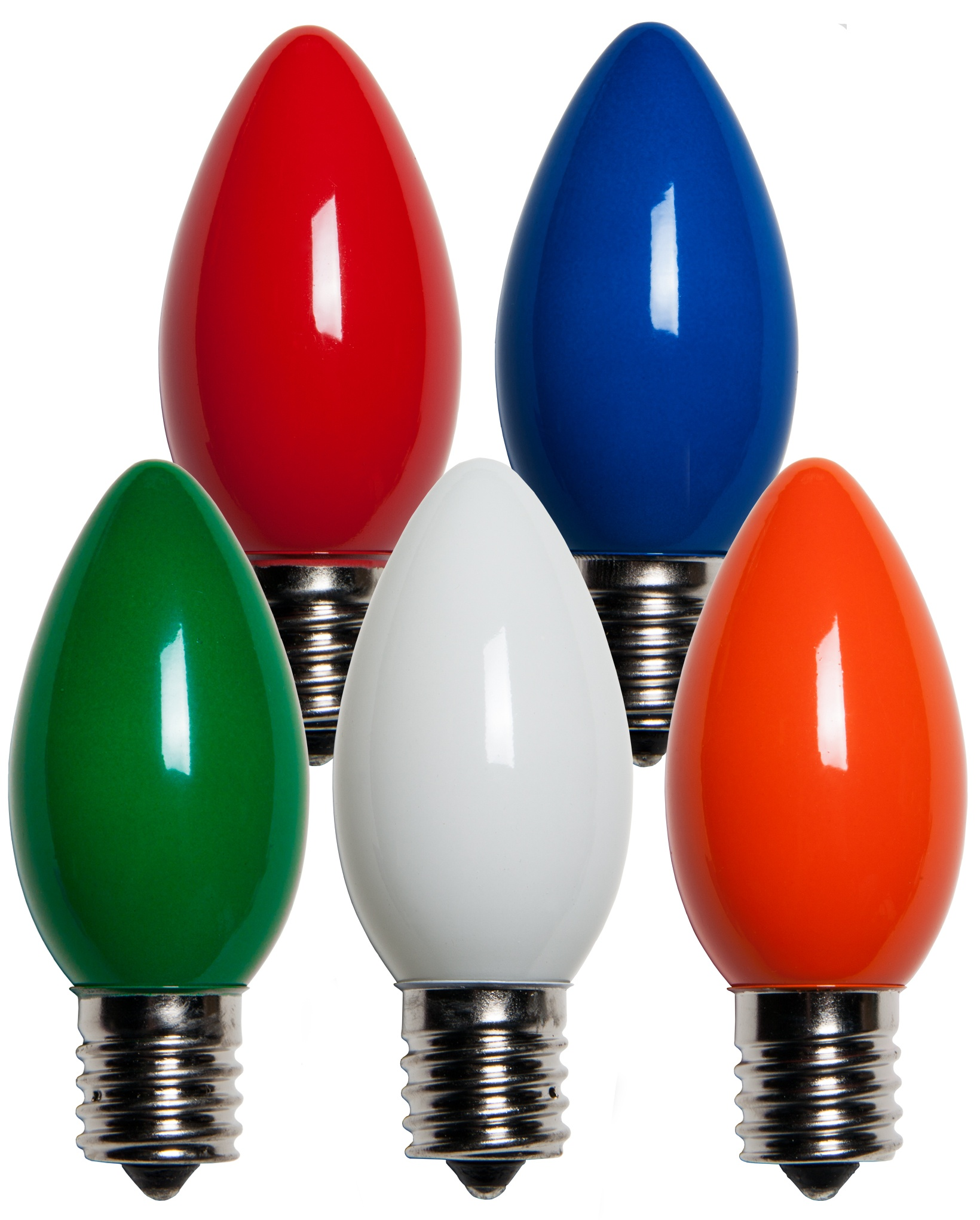 Multicolored Opaque Incandescent Bulbs