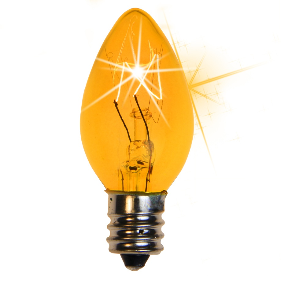 C7 Yellow Twinkle Incandescent Bulb