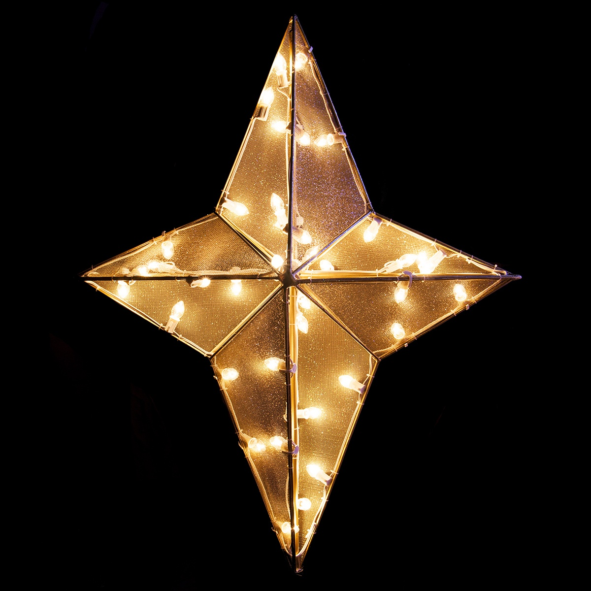 Dimensional Nativity Star Treetopper