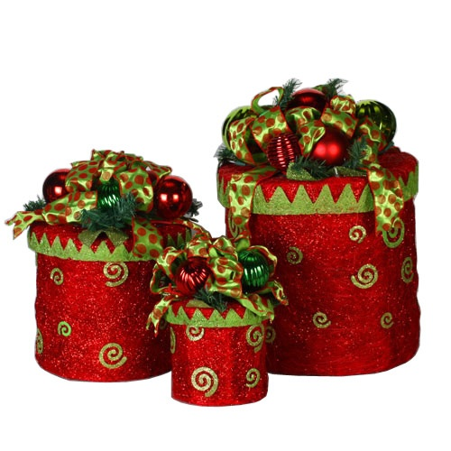 gift box christmas yard decorations - Decorative Christmas Boxes