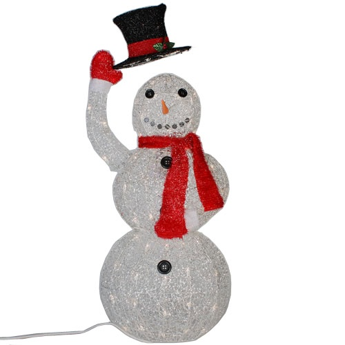 christmas lawn decorations 40 70 light animated snowman