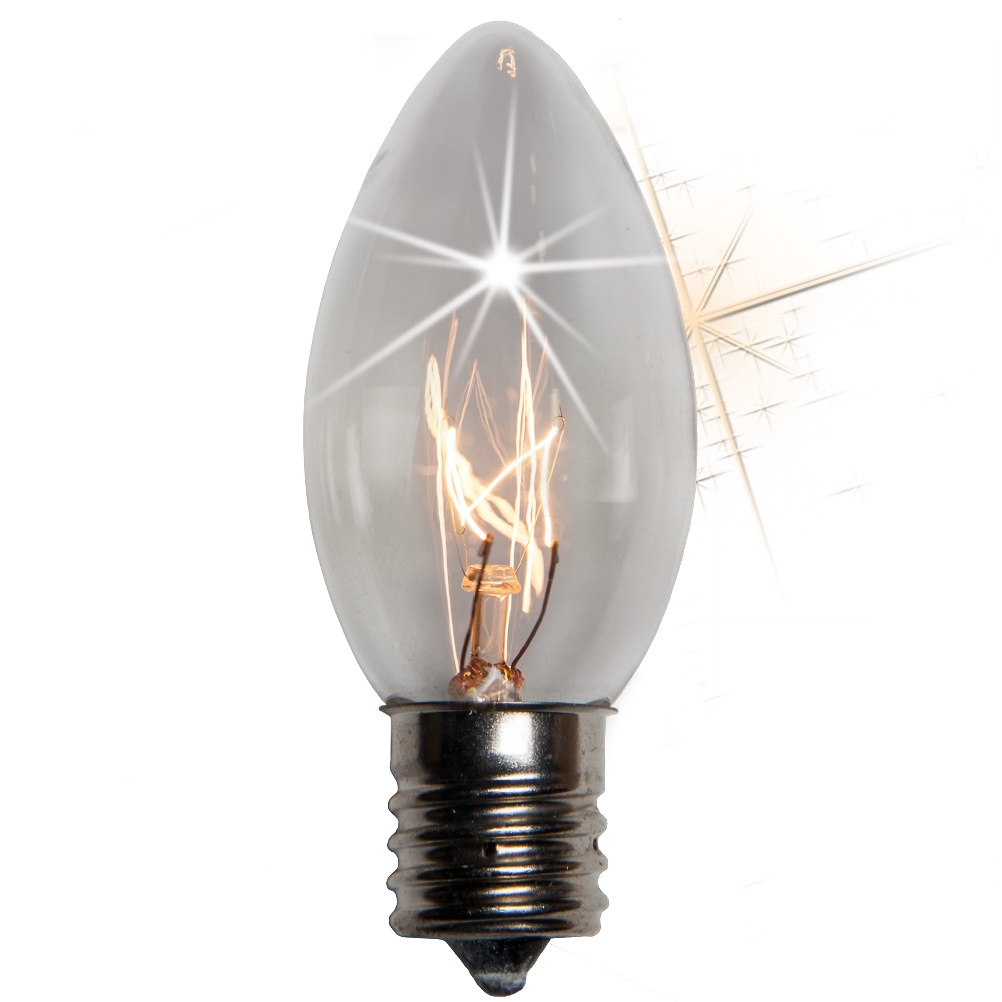 C9 Clear Transparent Incandescent Twinkle Bulb