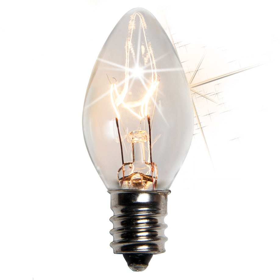 C7 Clear Twinkle Incandescent Bulb