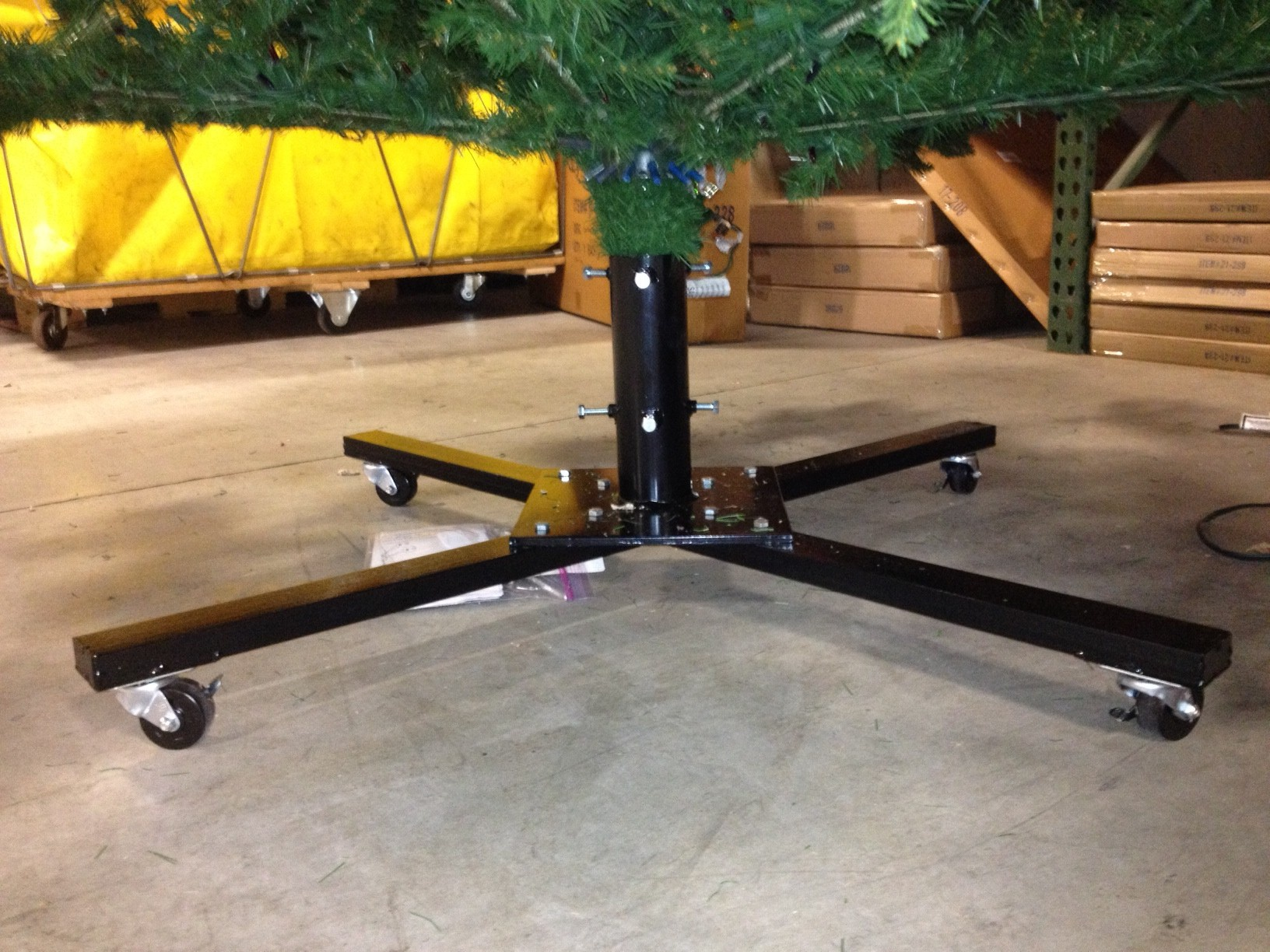 Rolling Black Christmas Tree Stand