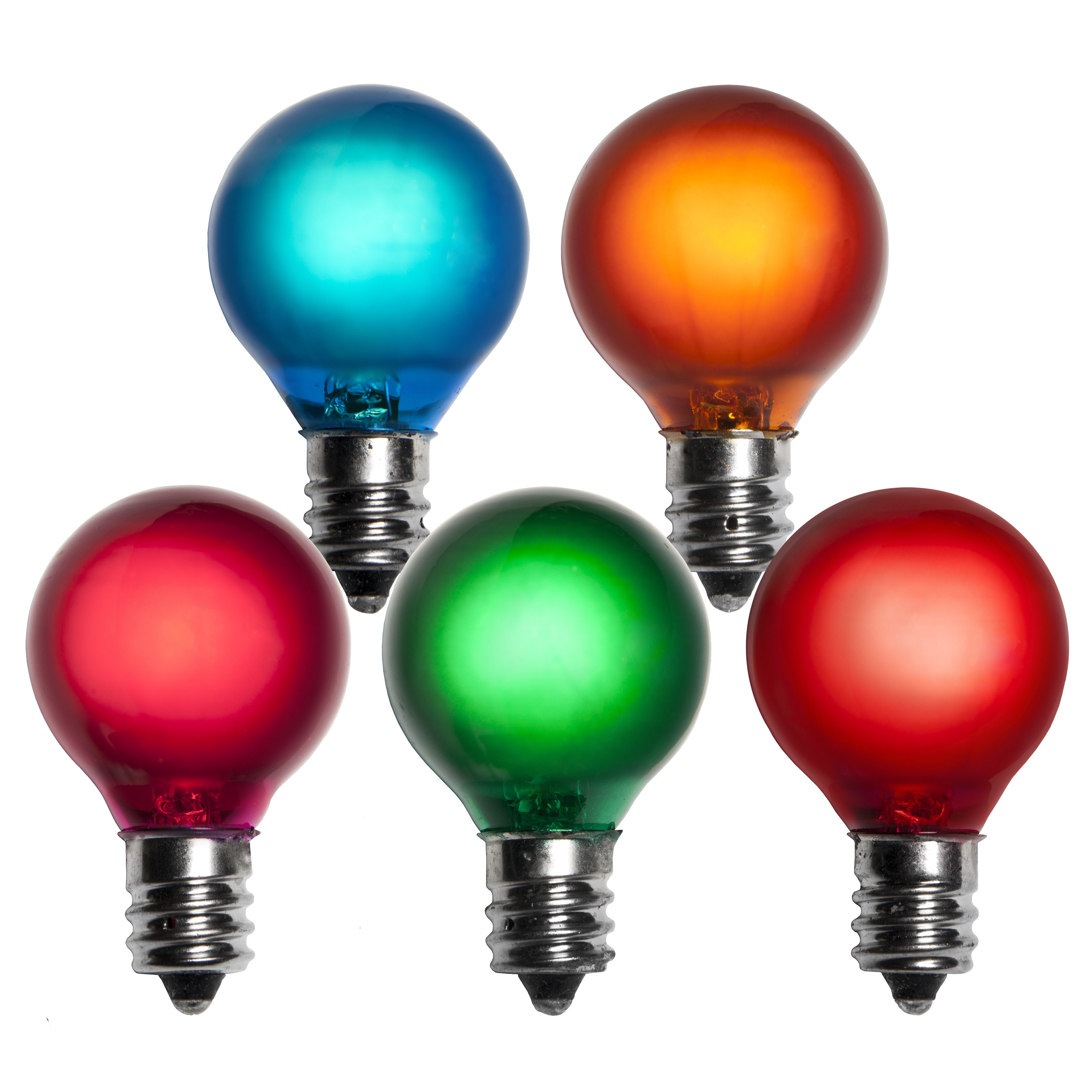 E12 Satin Multicolored G30 Globe Lights