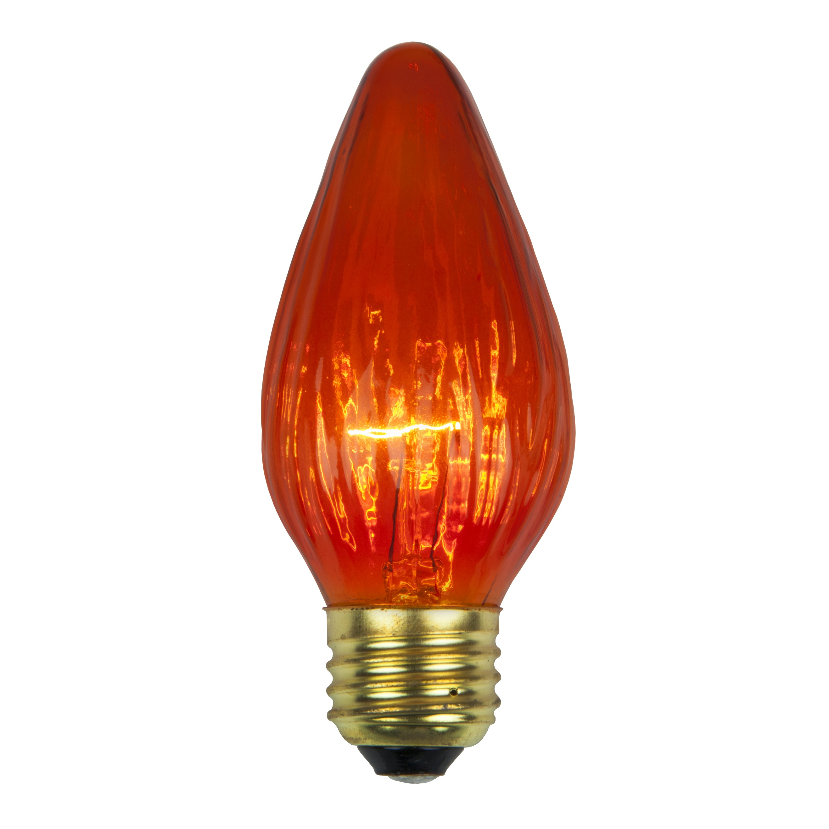 F15 Amber Flame Replacement Bulb E26 Nickel Base