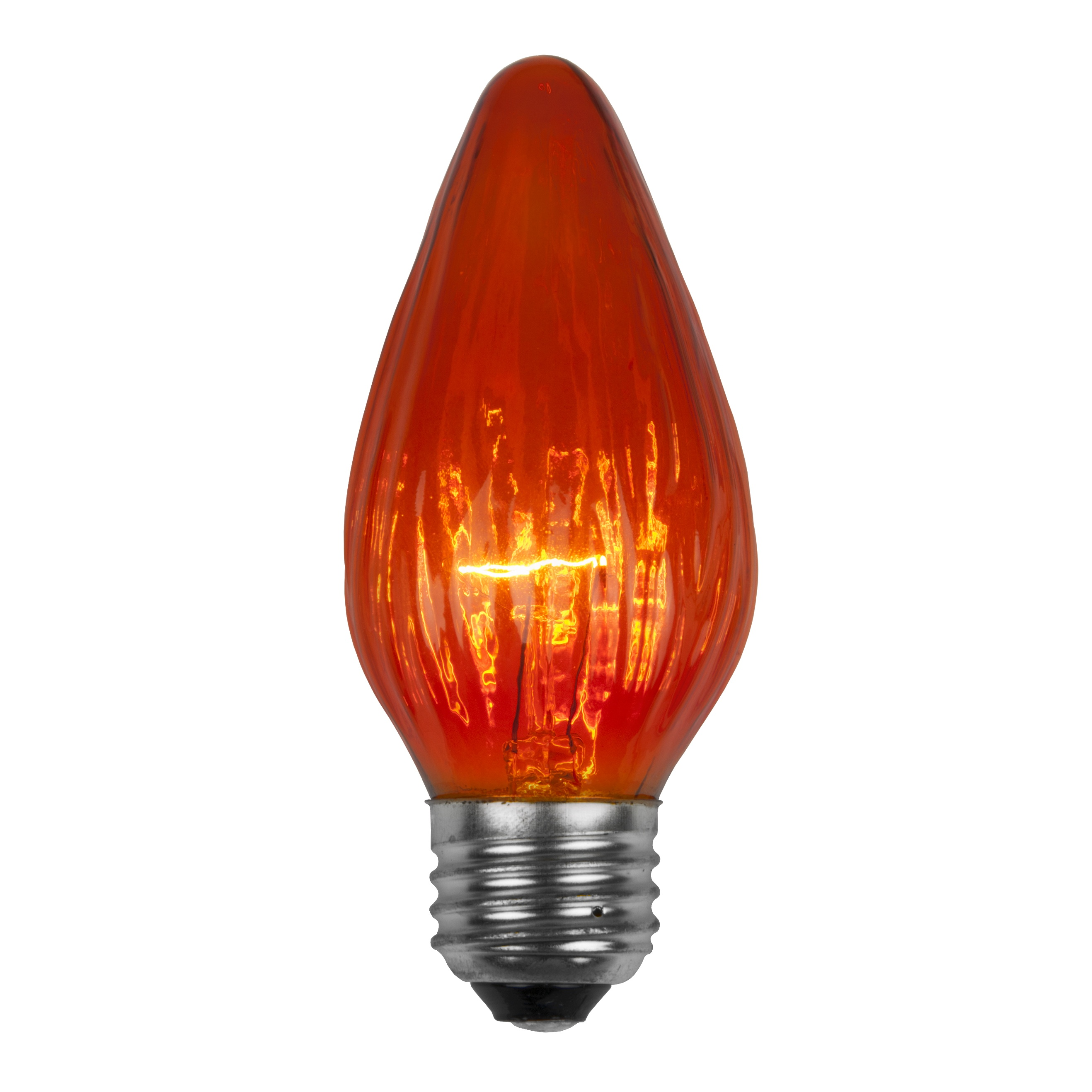 F15 Amber Flame Replacement Bulb E26 Brass Base