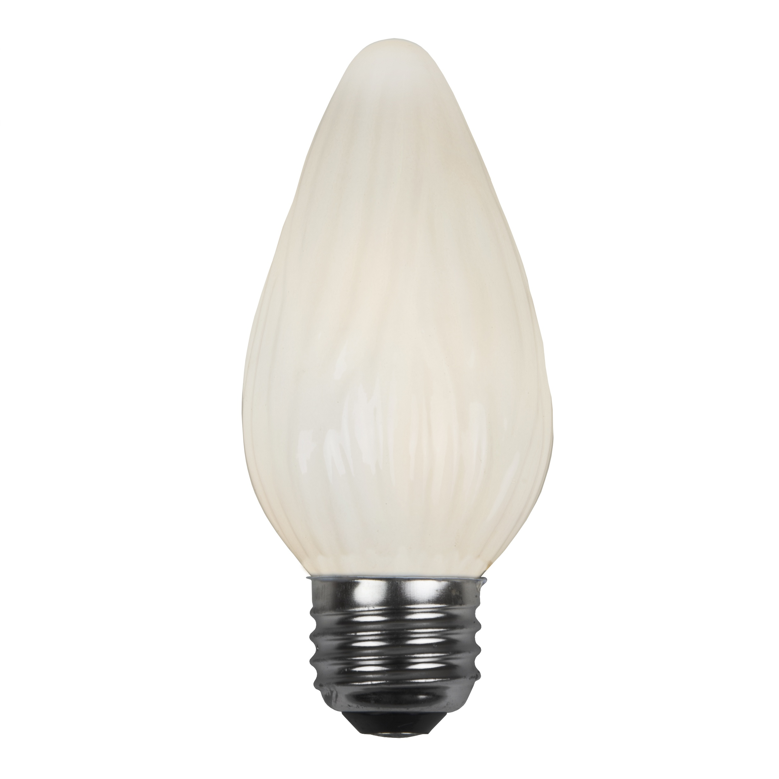 F15 Opaque White Flame Replacement Bulb E26 Base