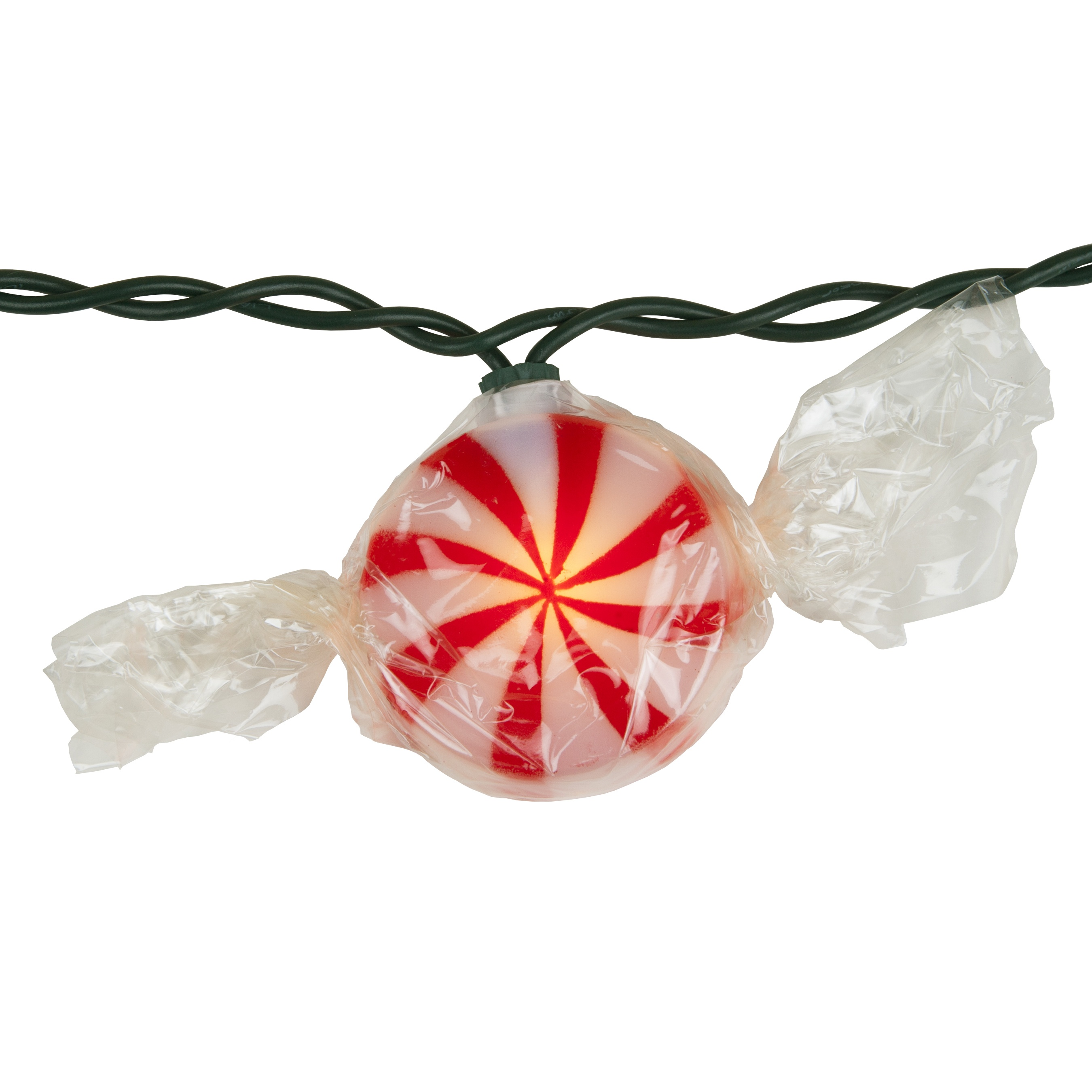 Red Peppermint Candy Light Set