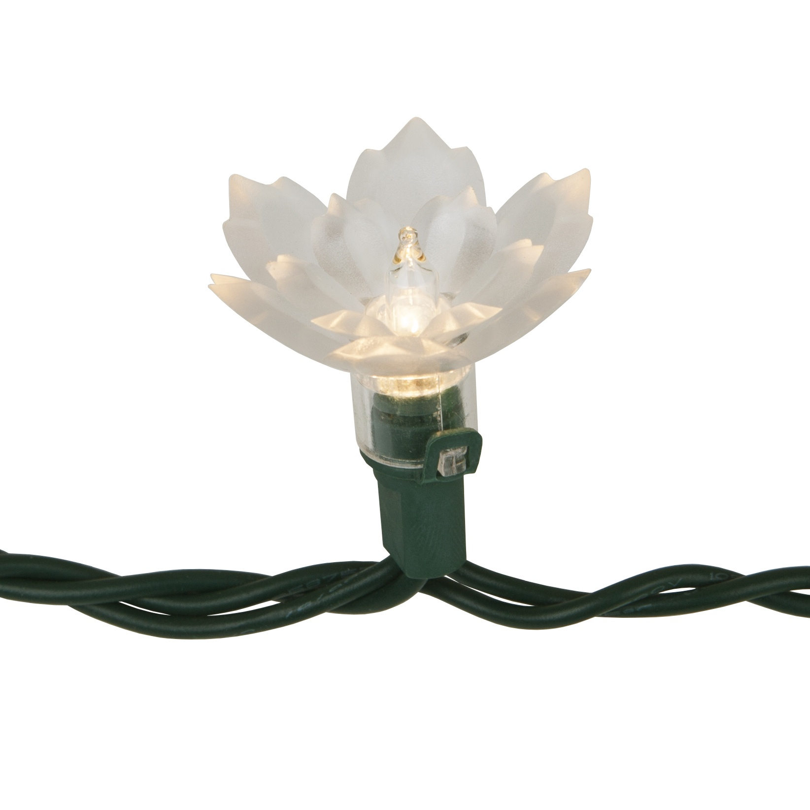 Two Layer Crystal Lily Flower Mini Light Set