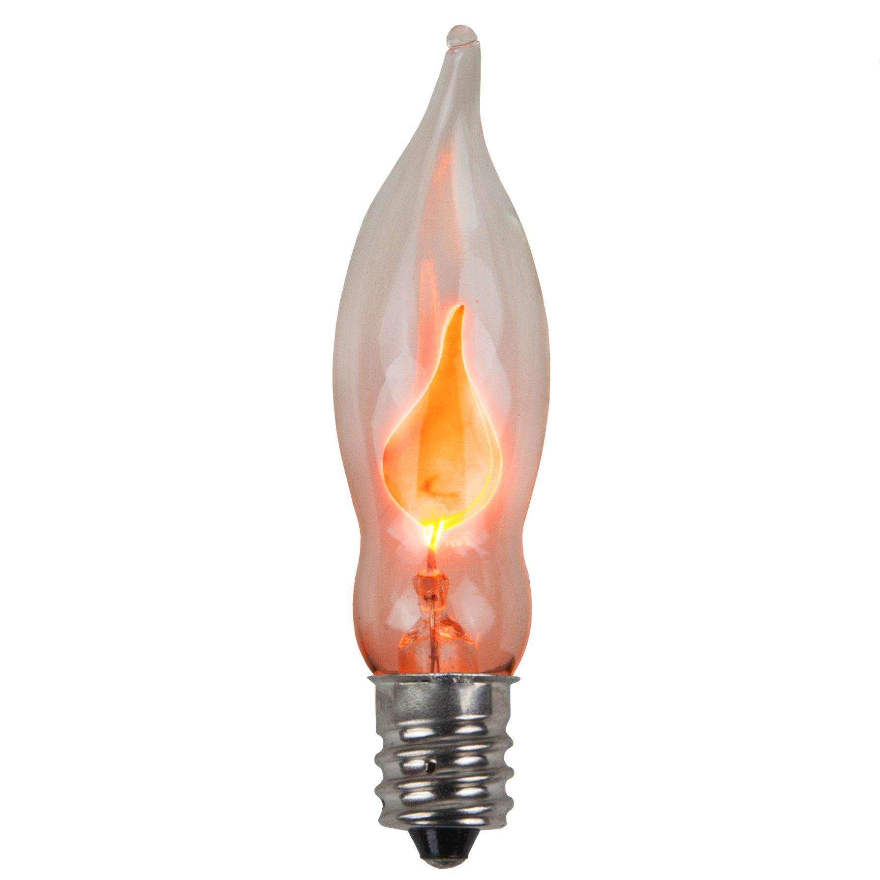 light bulb c7 flicker flame clear christmas light bulbs pack of 2. Black Bedroom Furniture Sets. Home Design Ideas