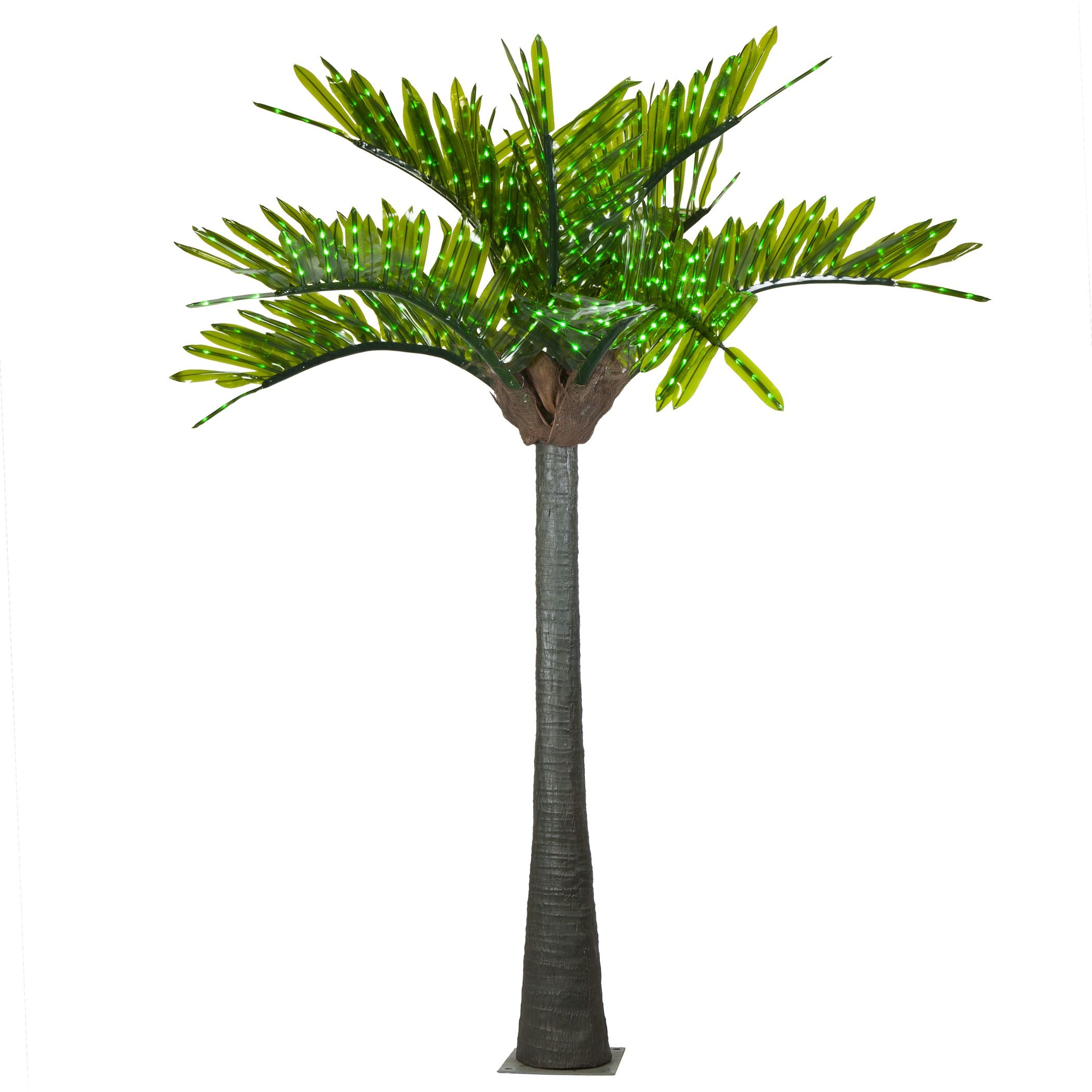 LED realistic commercial palm tree lit