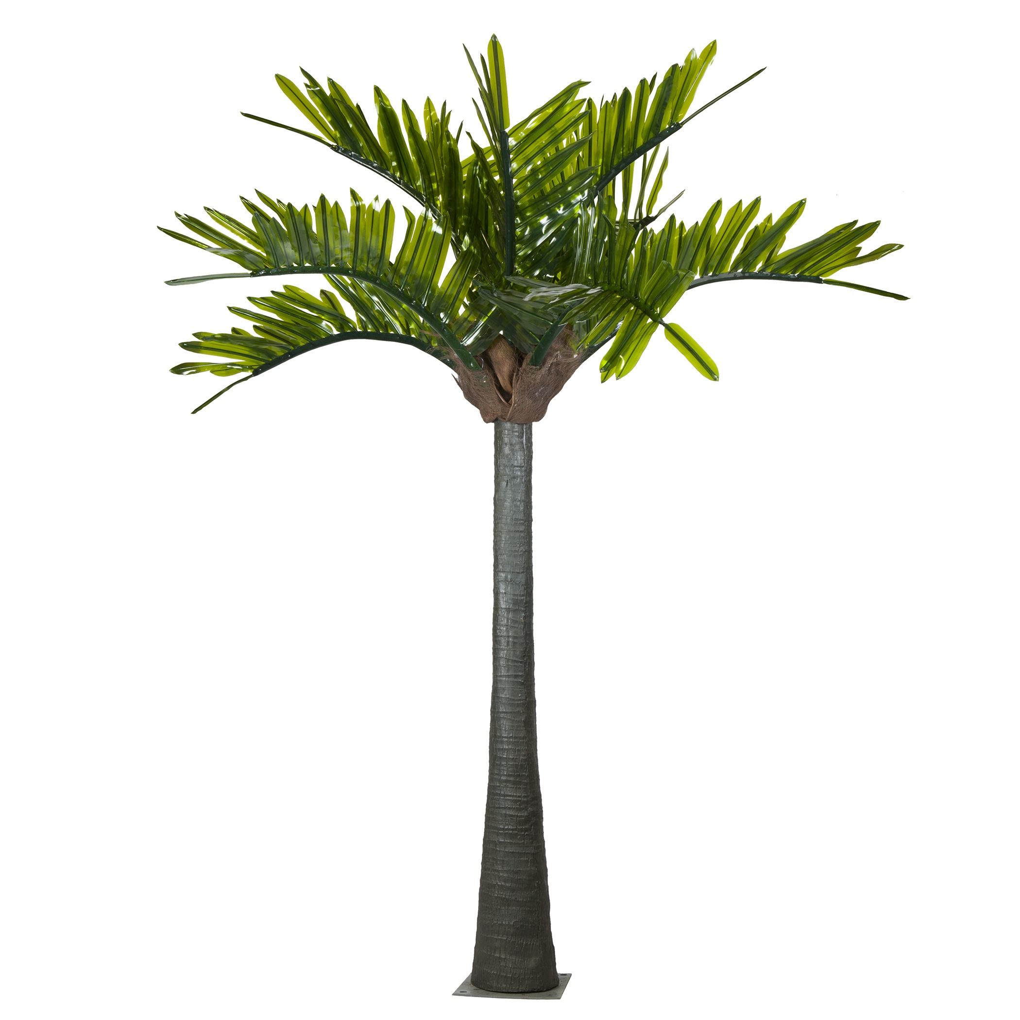 Lighted Palm Trees - 20u0026#39; LED Palm Tree - Natural Green