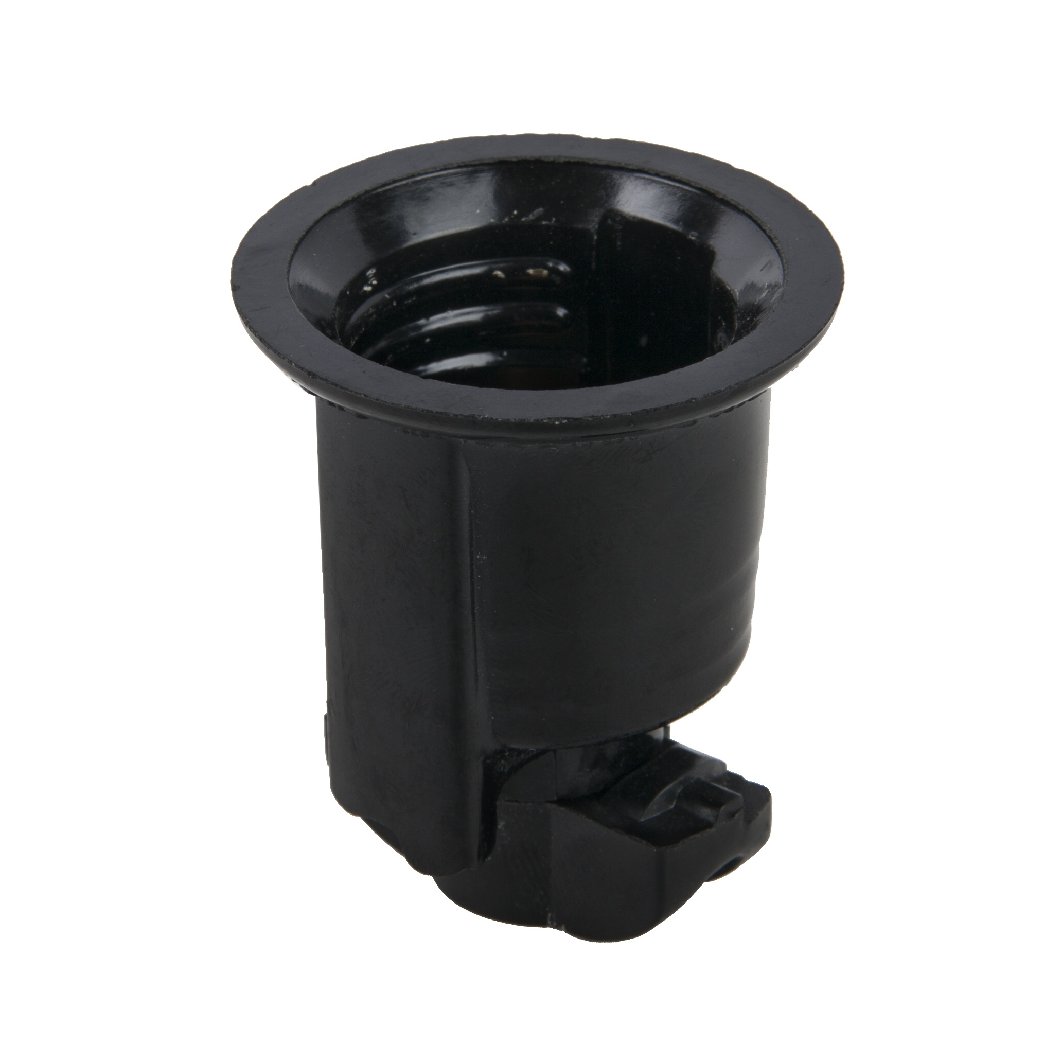 Black Phenolic Socket No Hook Medium Base