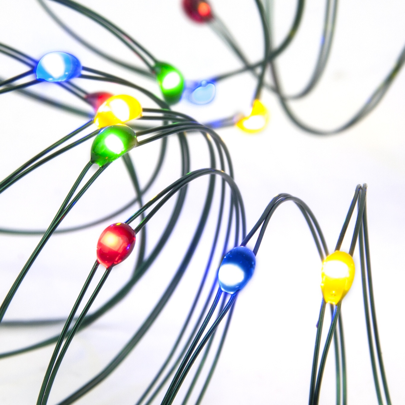 LED Multicolored Fairy Lights Battery Operated Ultra Thin Wire