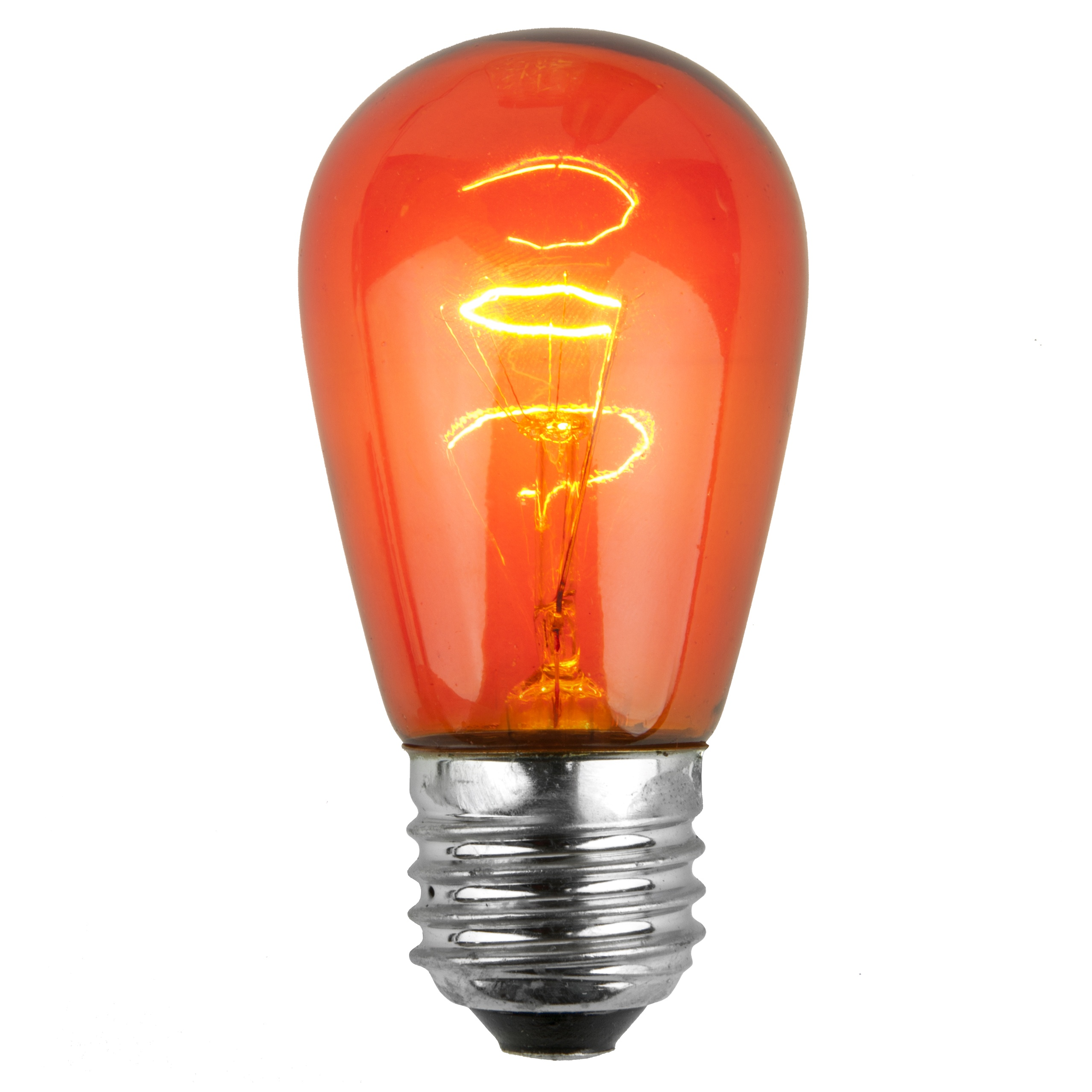 11S14 Transparent Amber Incandescent Sign Lamp