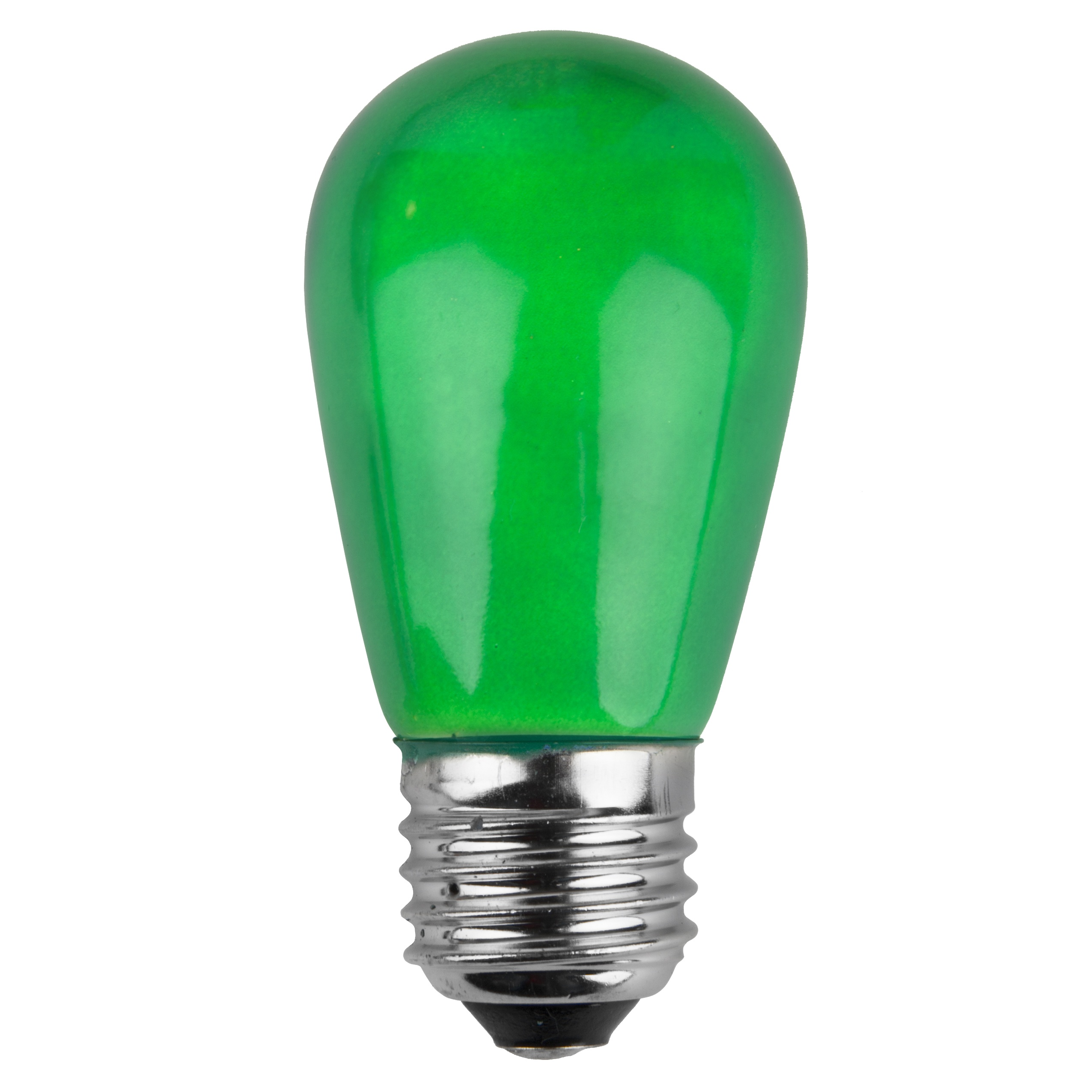 11S14 Opaque Green Incandescent Sign Lamp