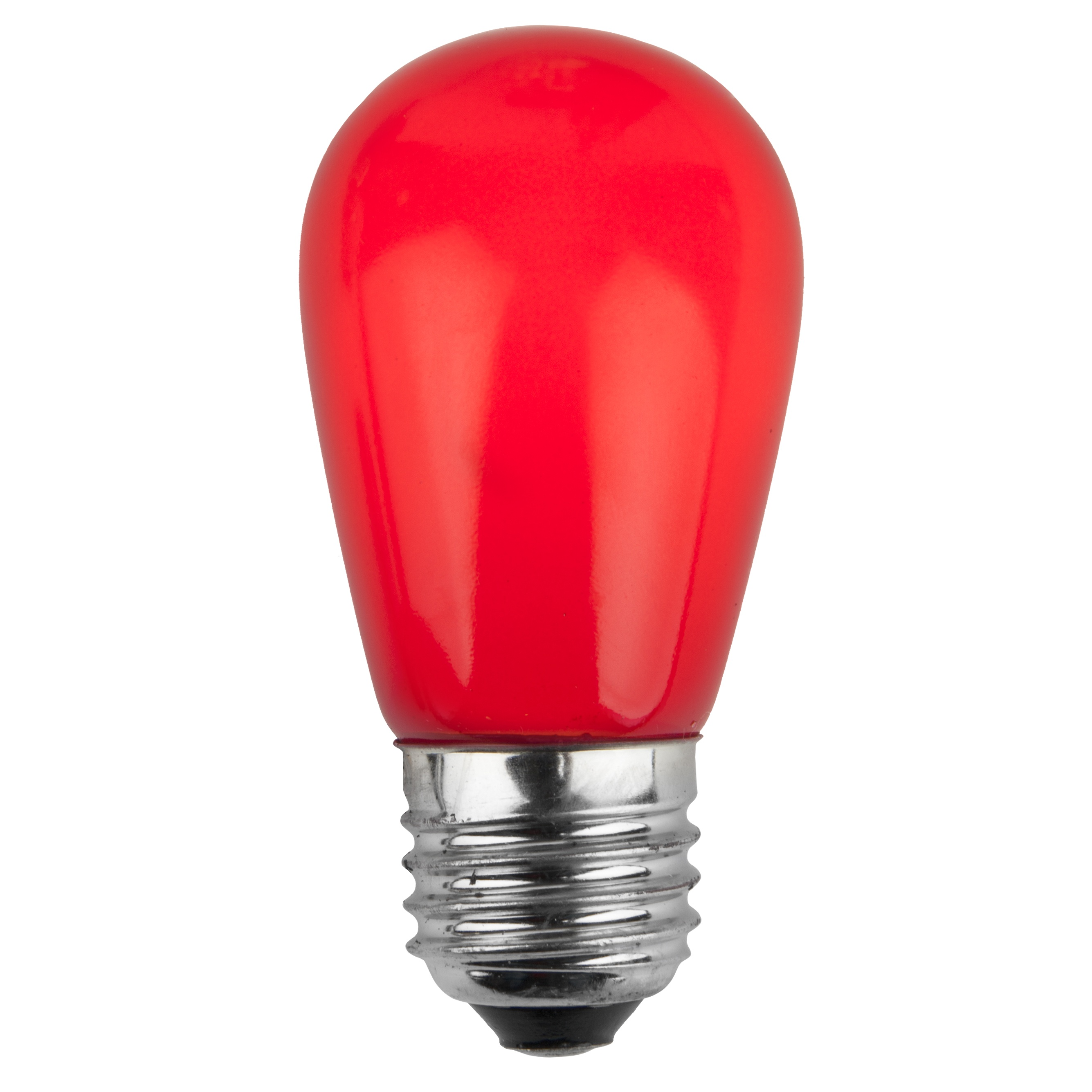 11S14 Opaque Red Incandescent Sign Lamp