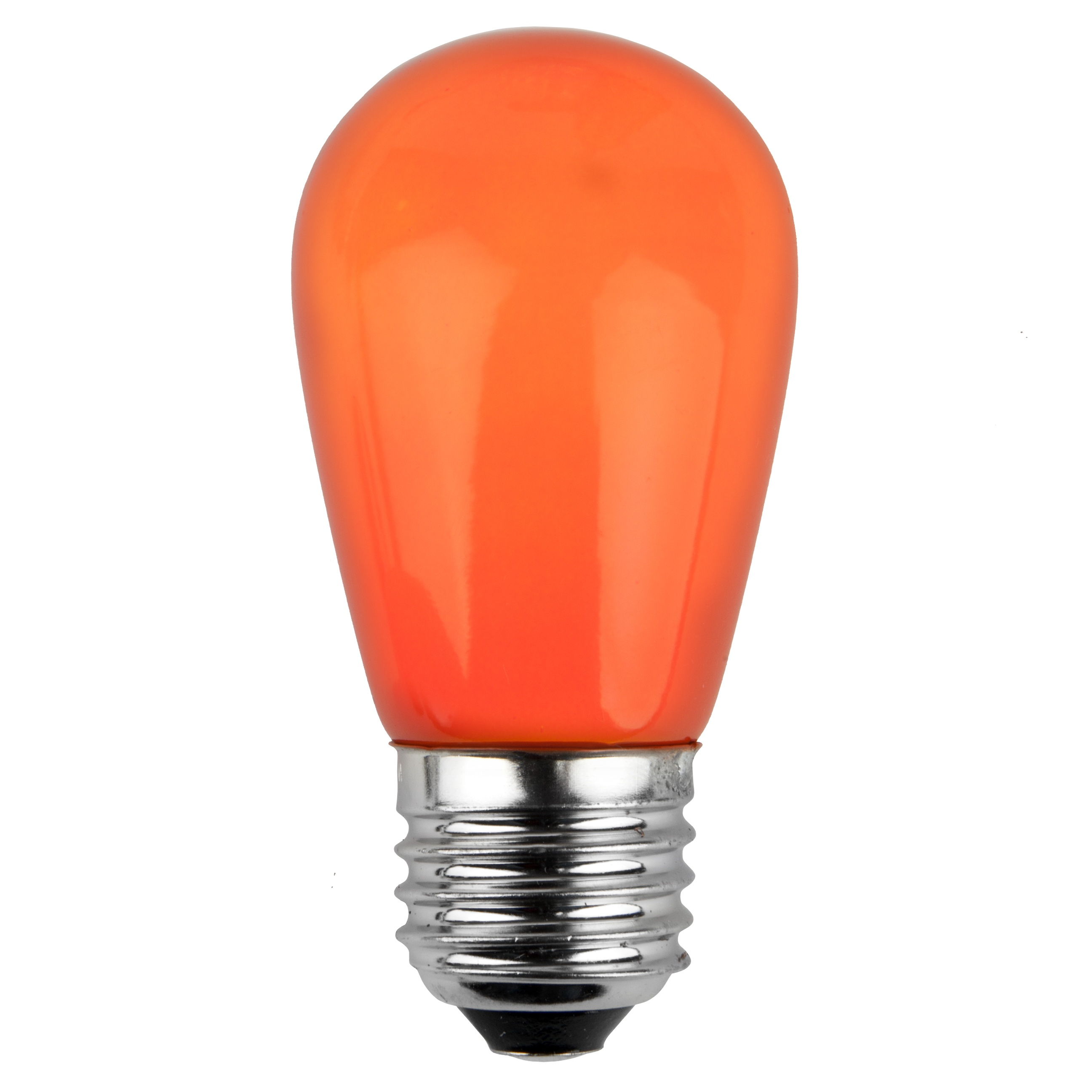 11S14 Opaque Orange Incandescent Sign Lamp