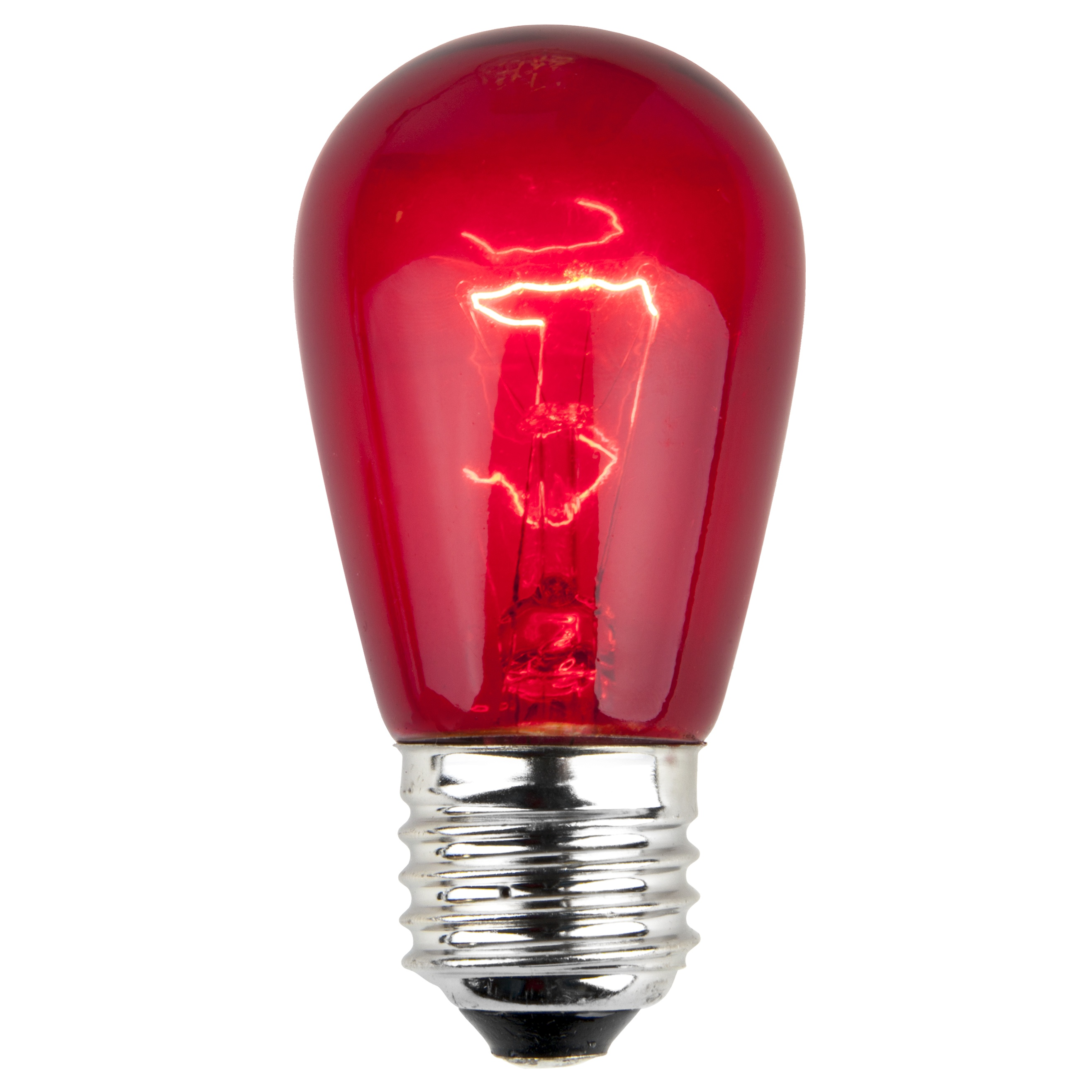 11S14 Transparent Red Incandescent Sign Lamp