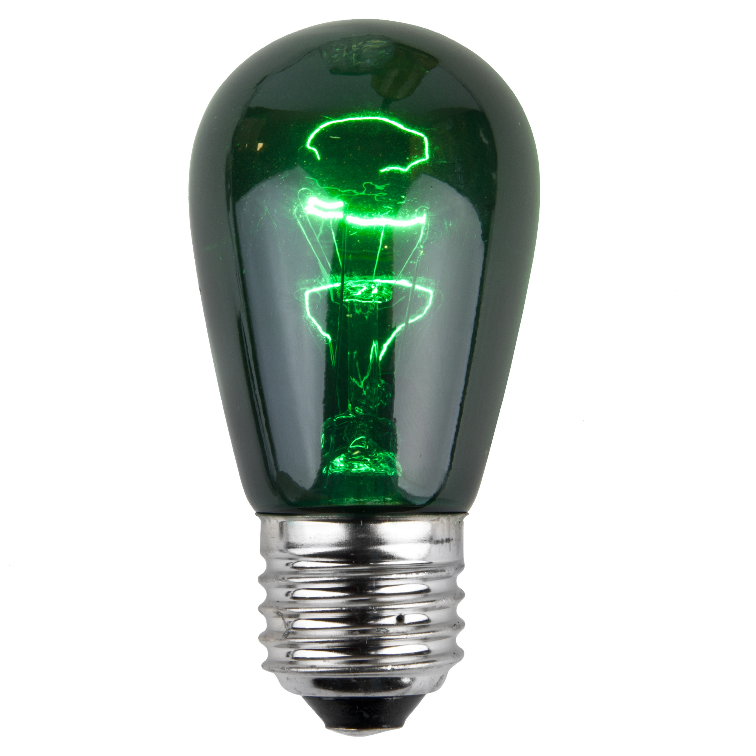 11S14 Transparent Green Incandescent Sign Lamp