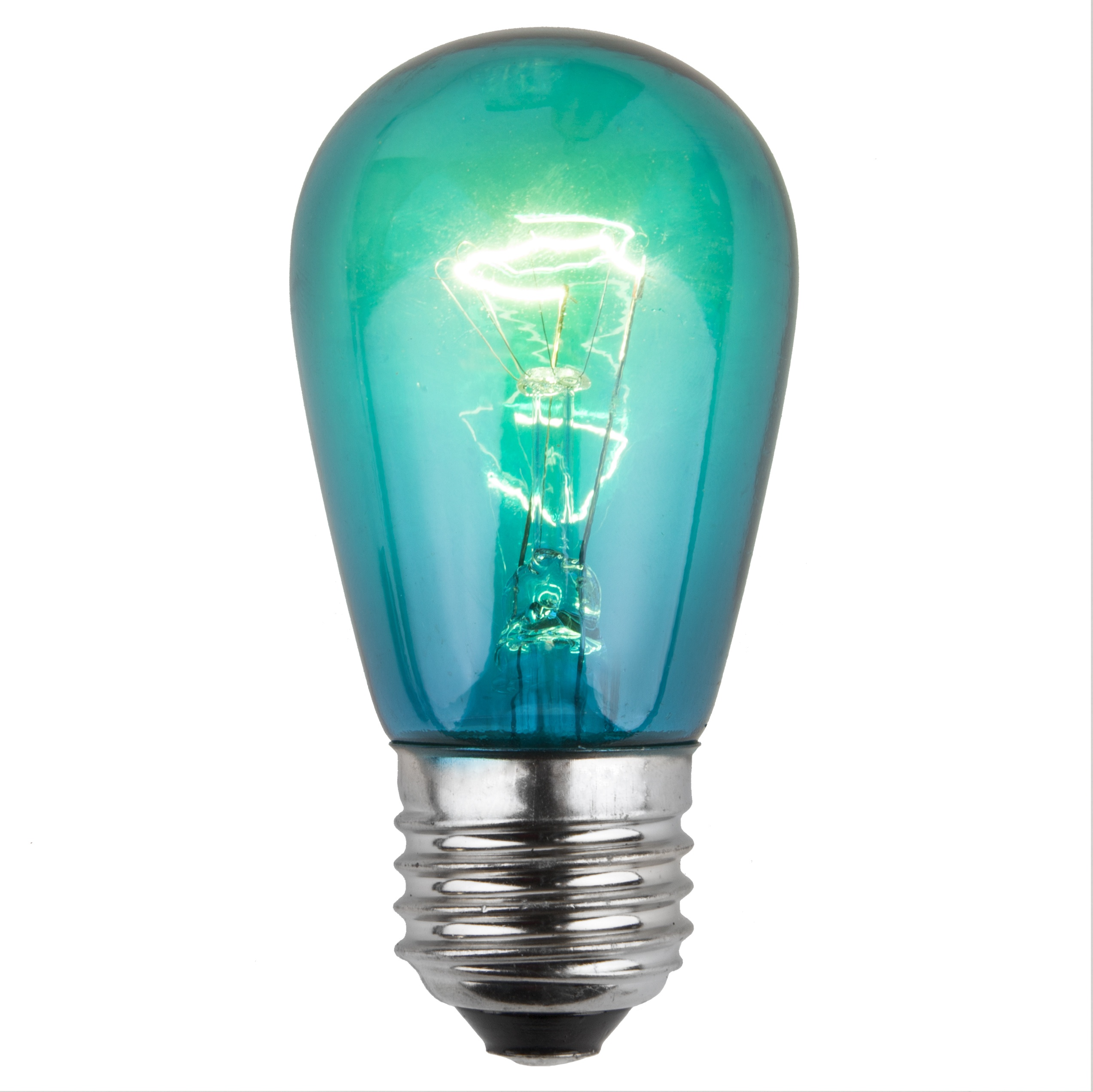 11S14 Transparent Teal Incandescent Sign Lamp
