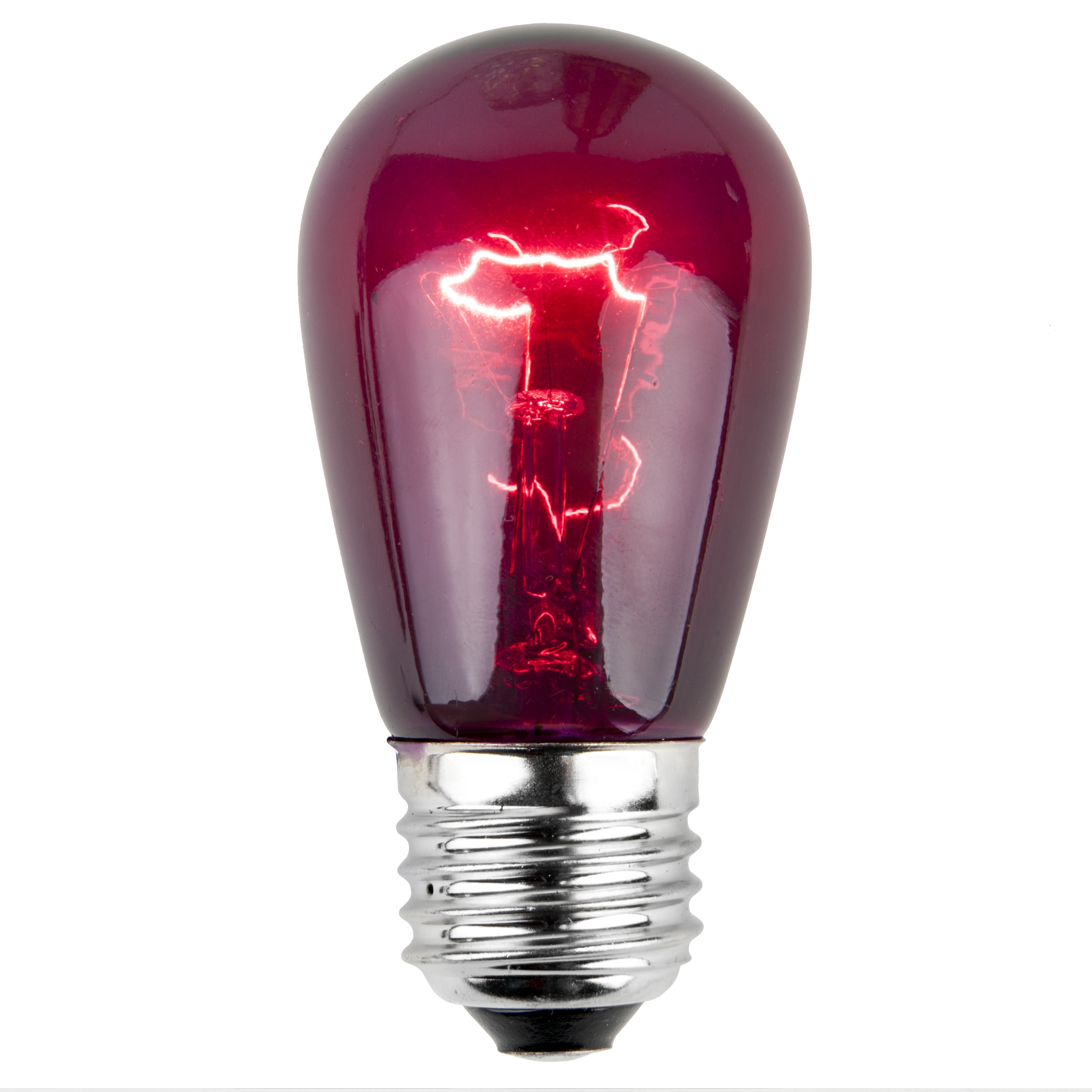 11S14 Transparent Purple Incandescent Sign Lamp