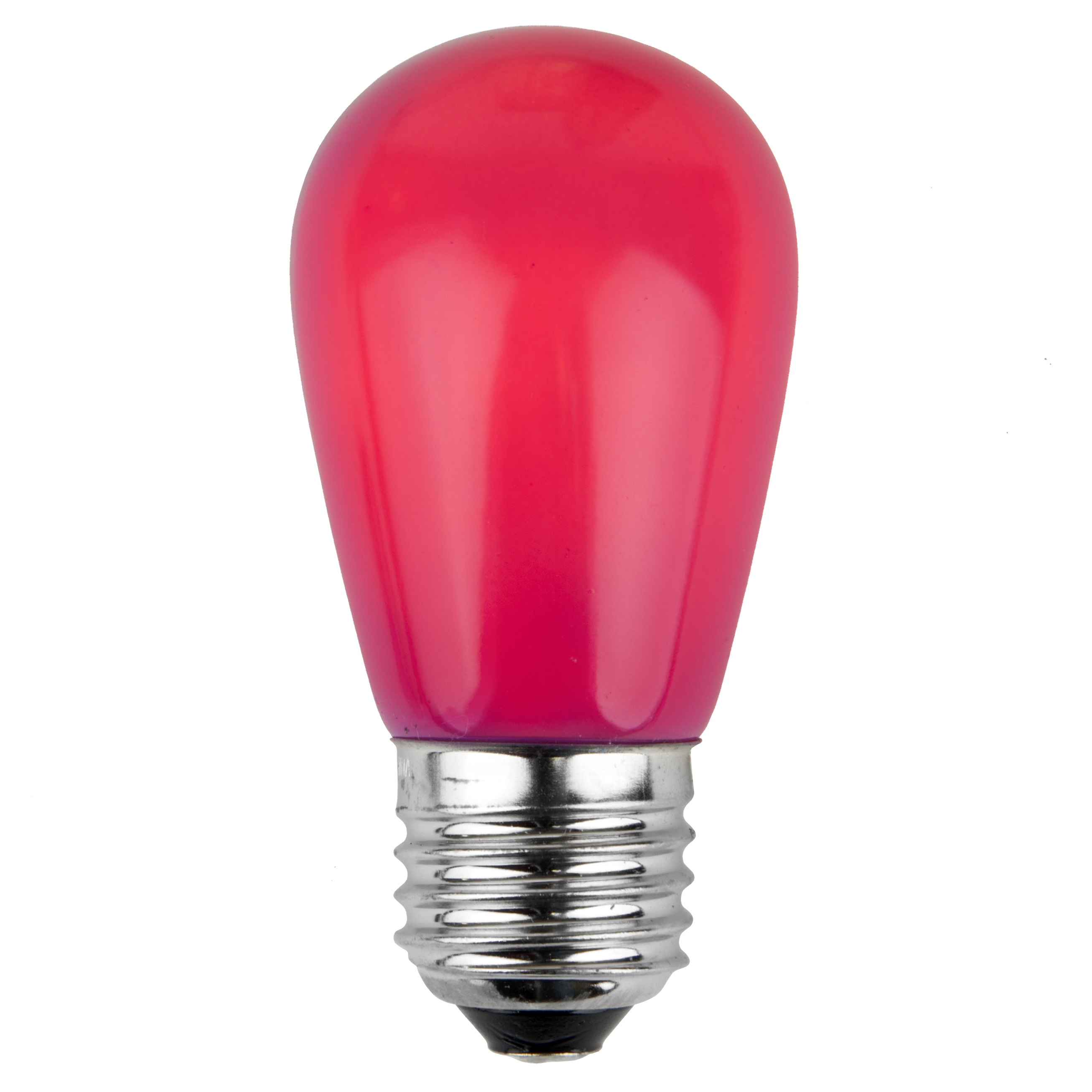 11S14 Opaque Pink Incandescent Sign Lamp