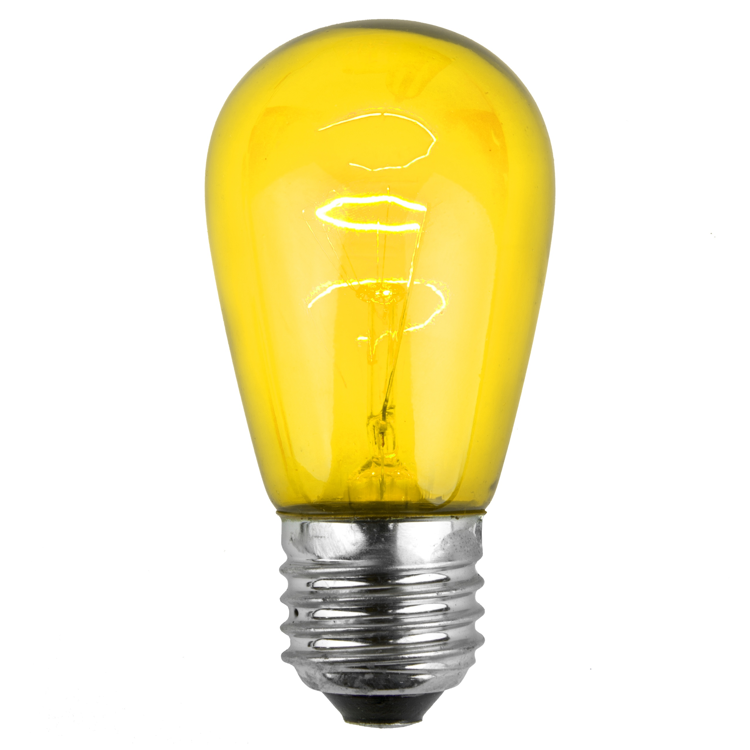 11S14 Transparent Yellow Incandescent Sign Lamp