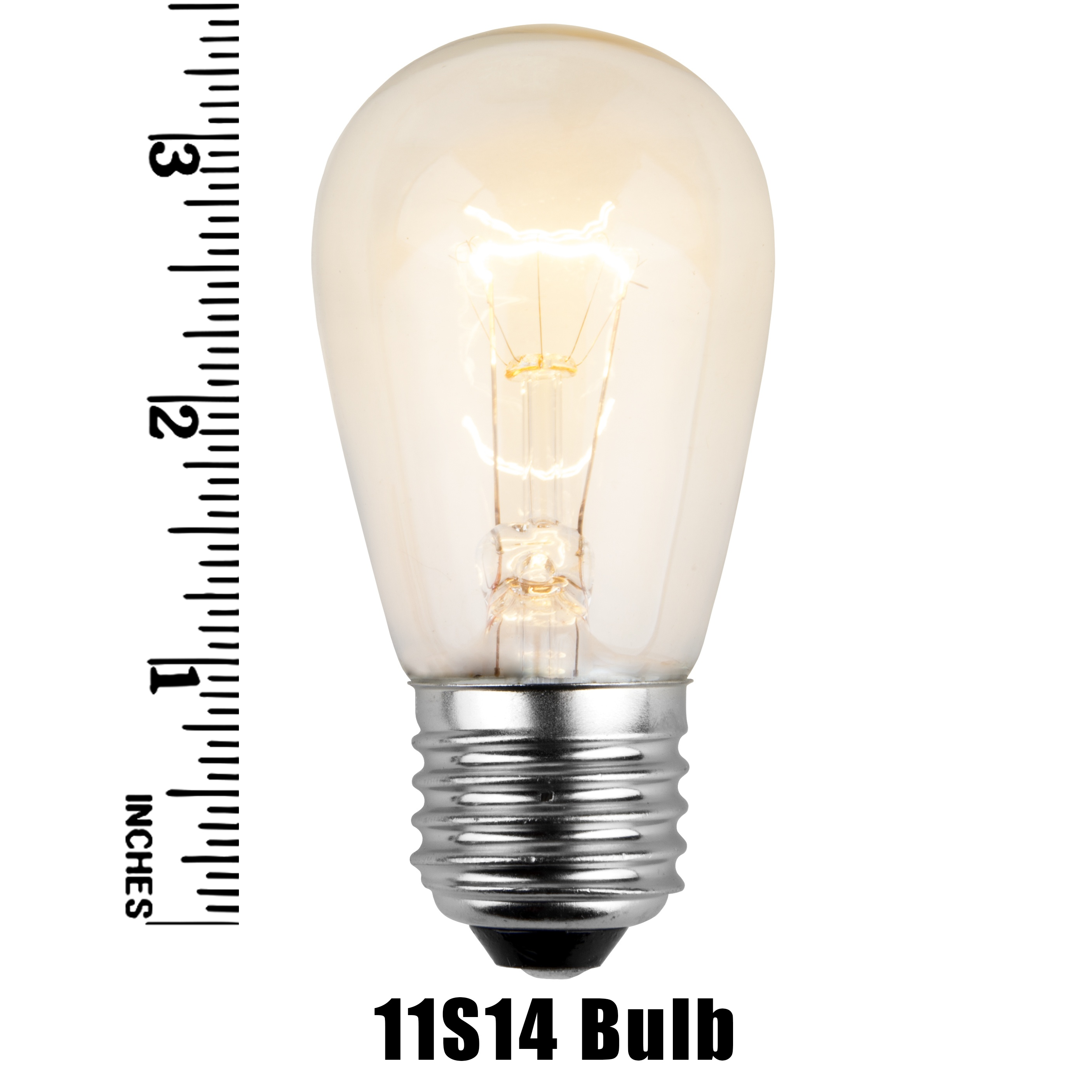 11S14 Incandescent Clear Sign Lamp Measurement
