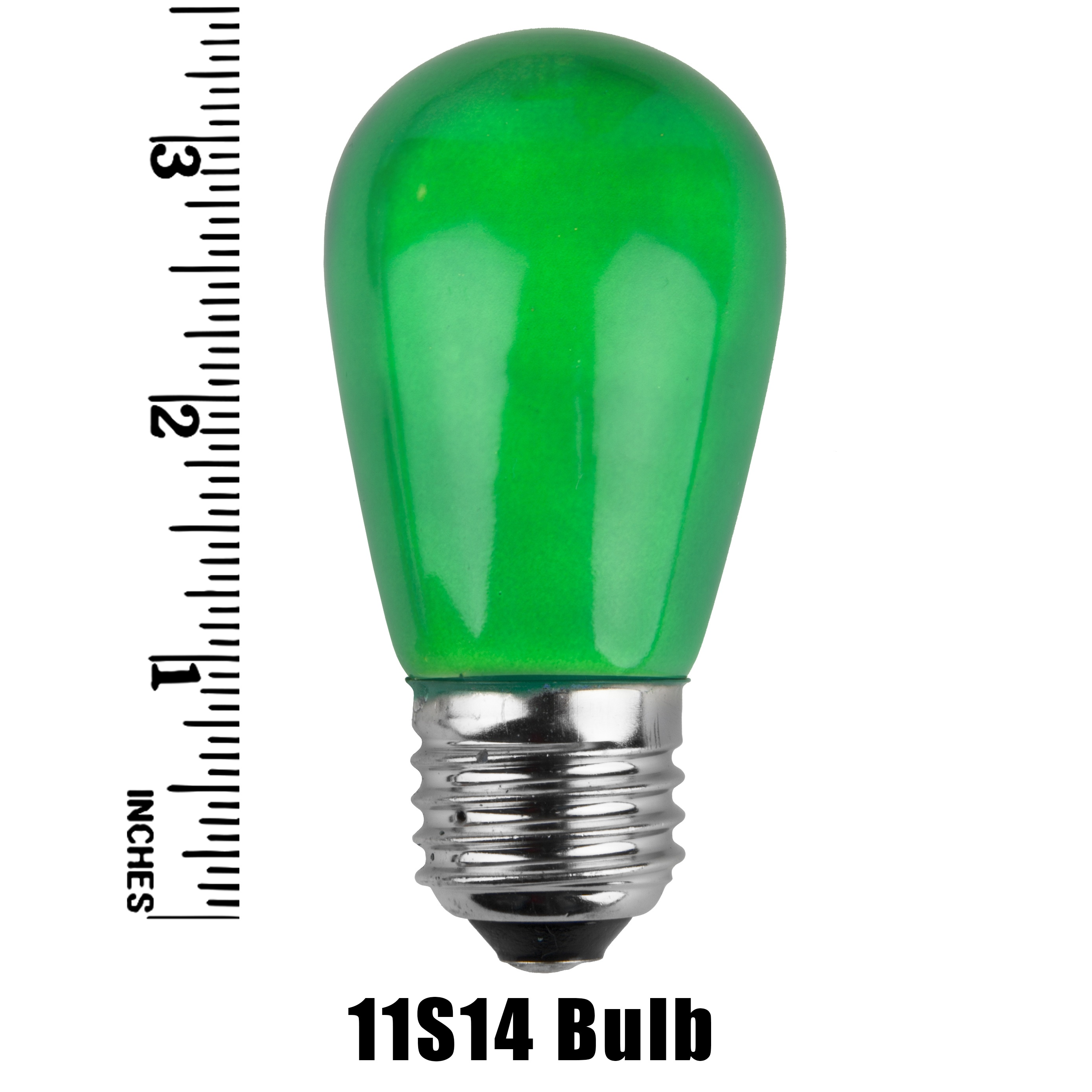 11S14 Opaque Incandescent Green Sign Lamp Measurement