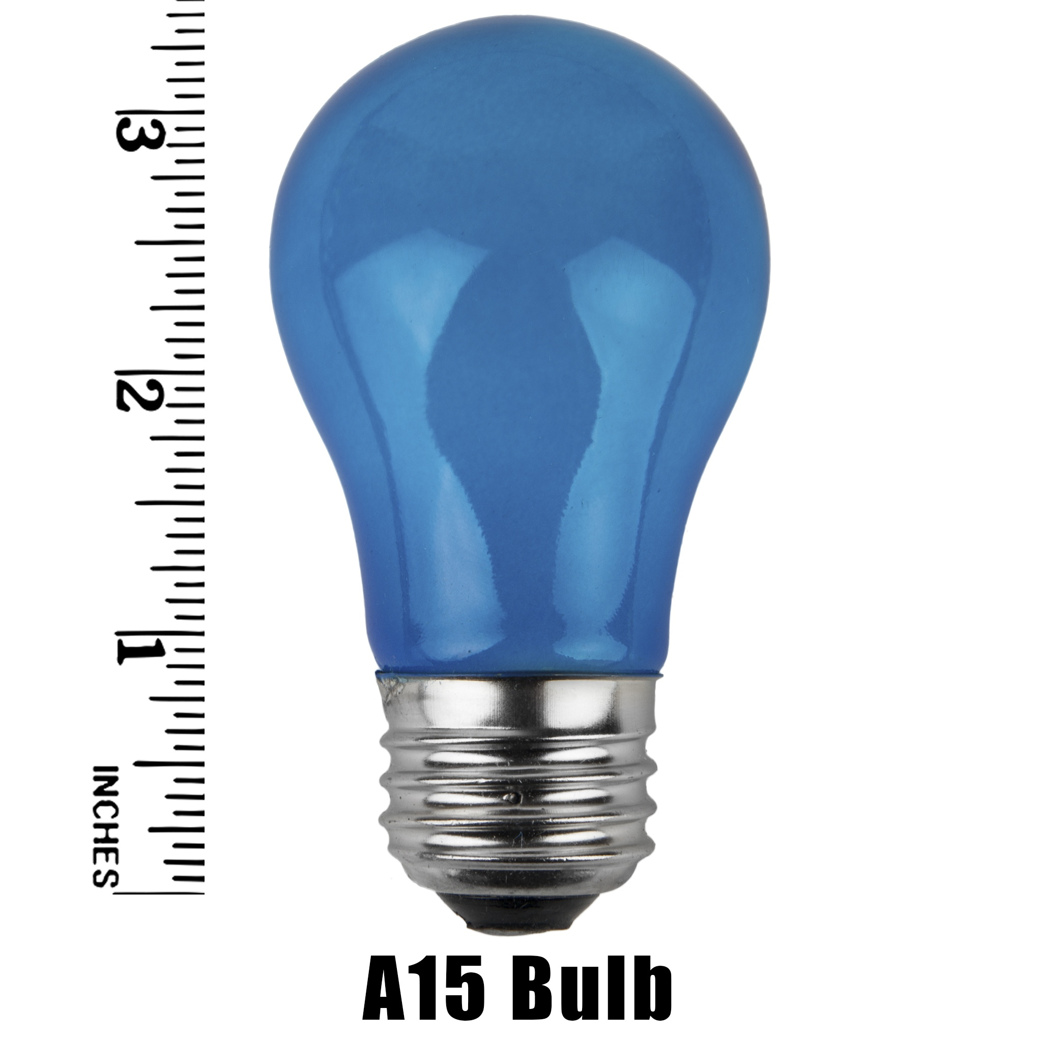 A15 Muliticolored Opaque Incandescent Bulb Measurement