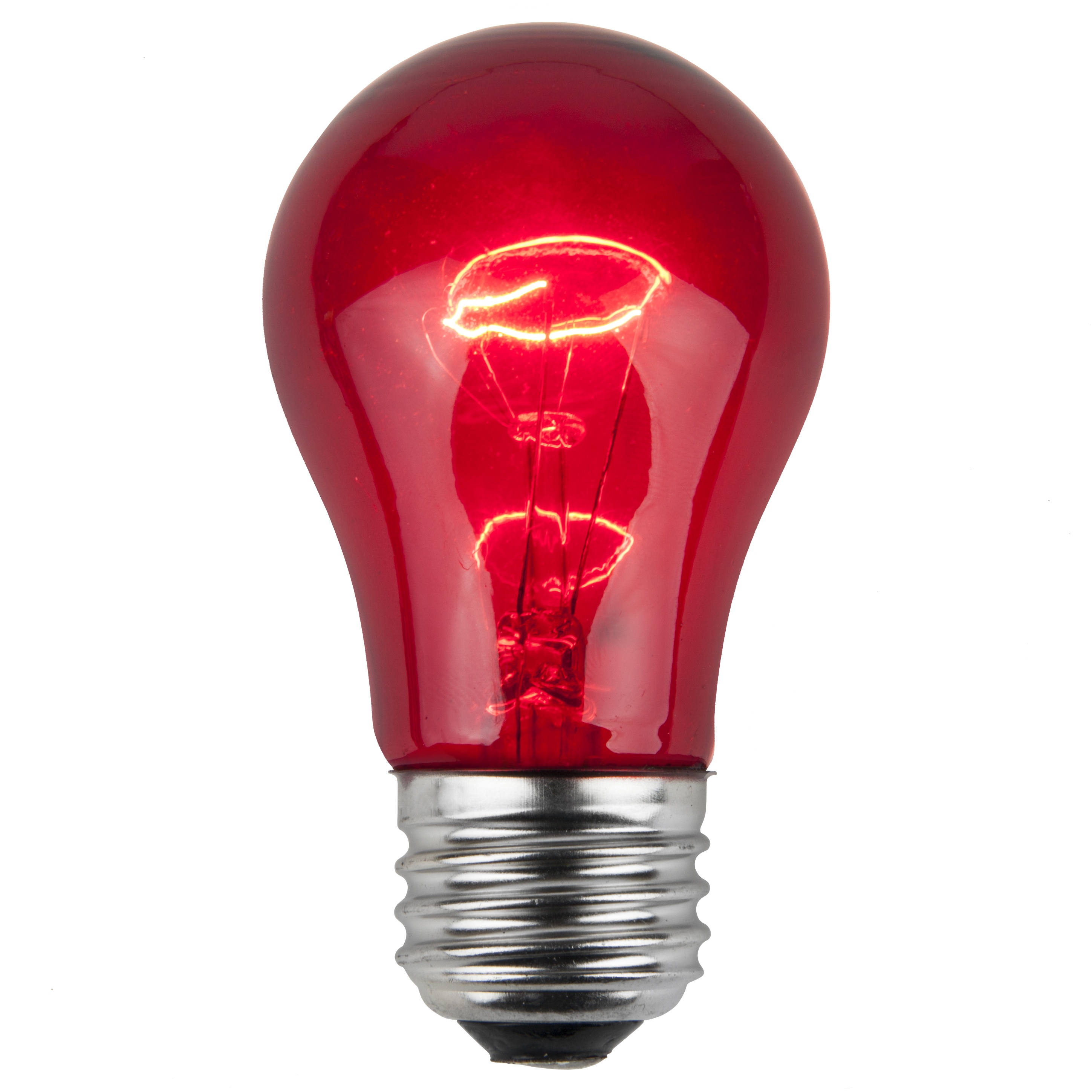 A15 Red Transparent Incandescent Incandescent Bulb