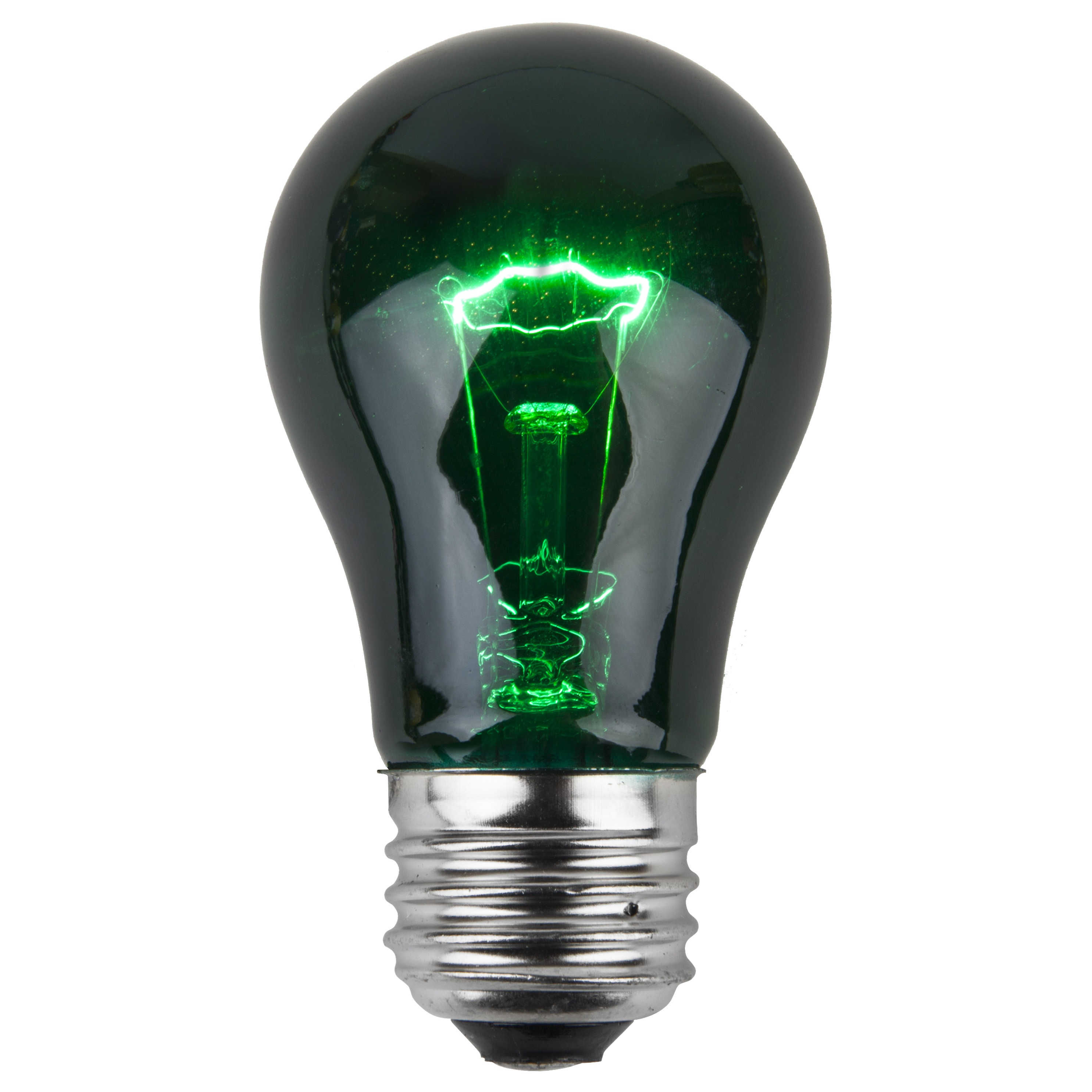 A15 Green Transparent Incandescent Incandescent Bulb