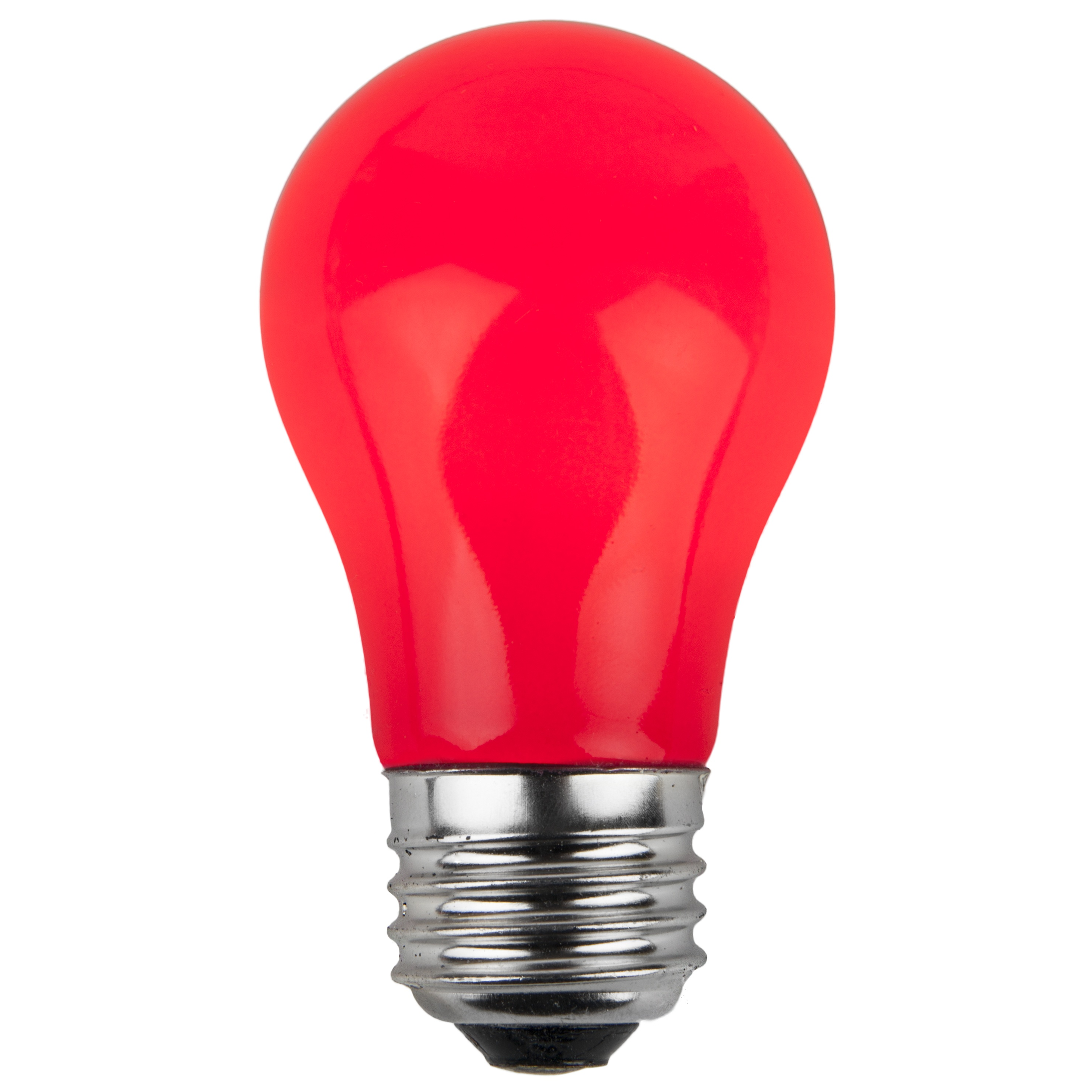 E26 Party And Sign Bulbs A15 Opaque Red 15 Watt Replacement Bulbs