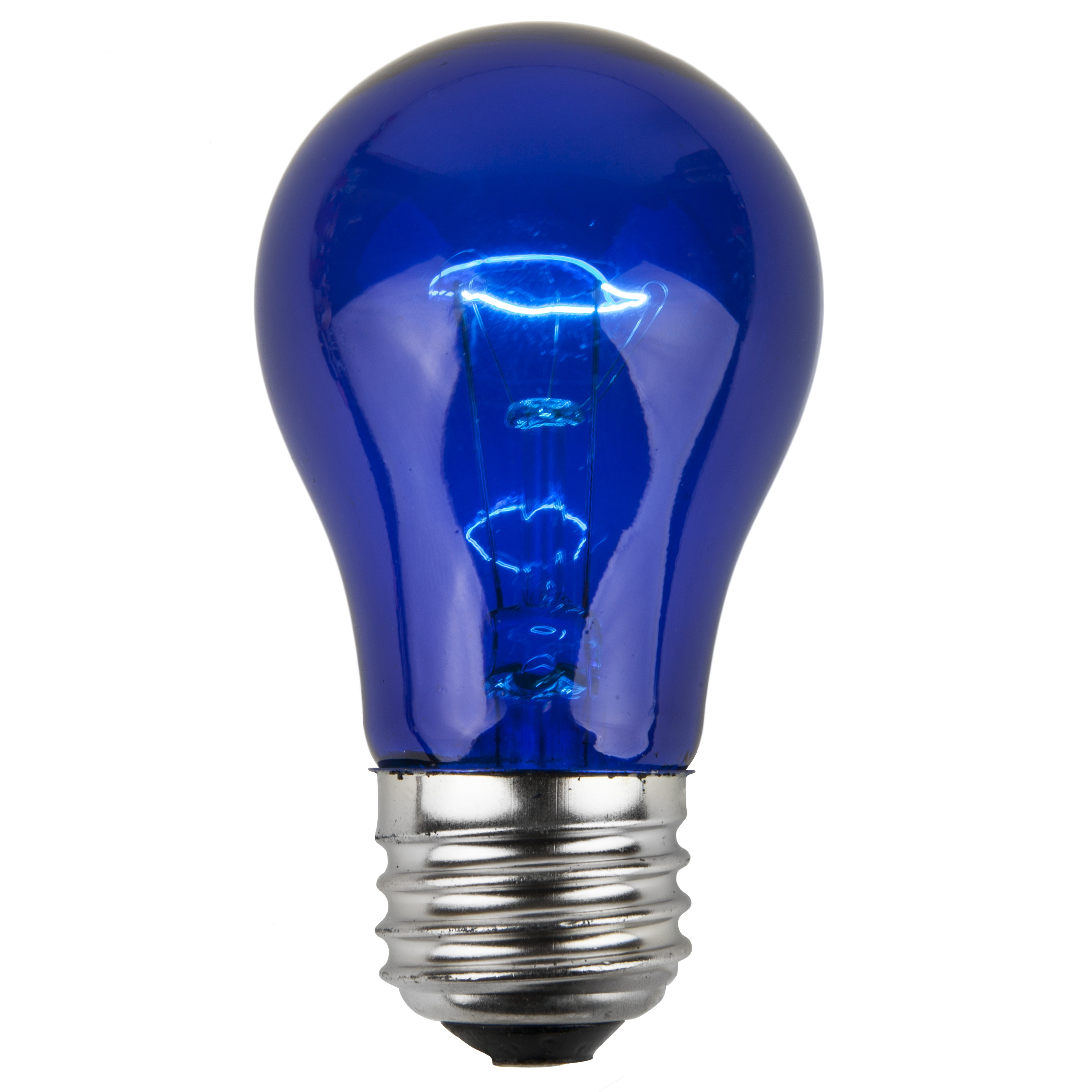 A15 Blue Transparent Incandescent Bulb