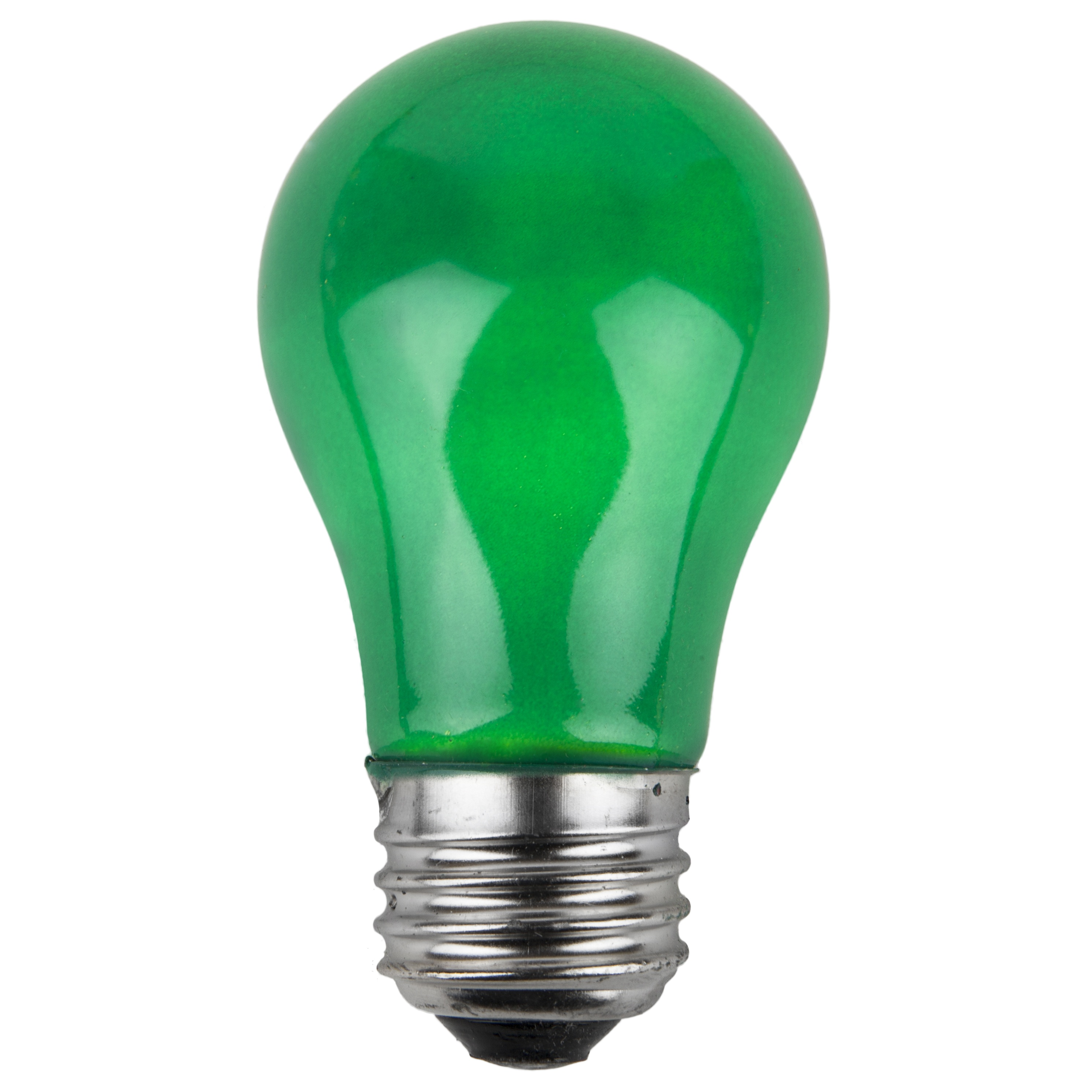 A15 Green Opaque Incandescent Bulb