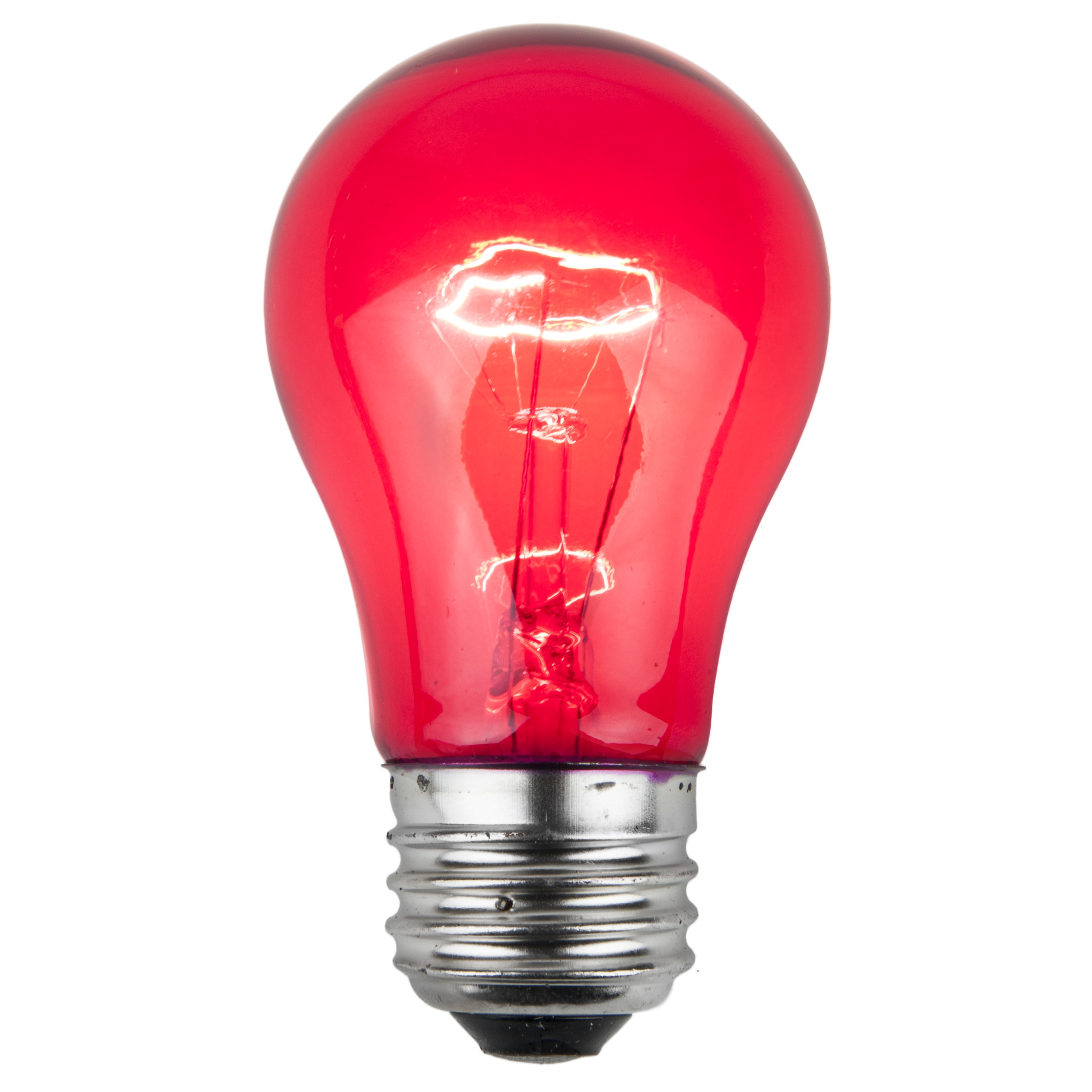 A15 Pink Transparent Incandescent Bulb
