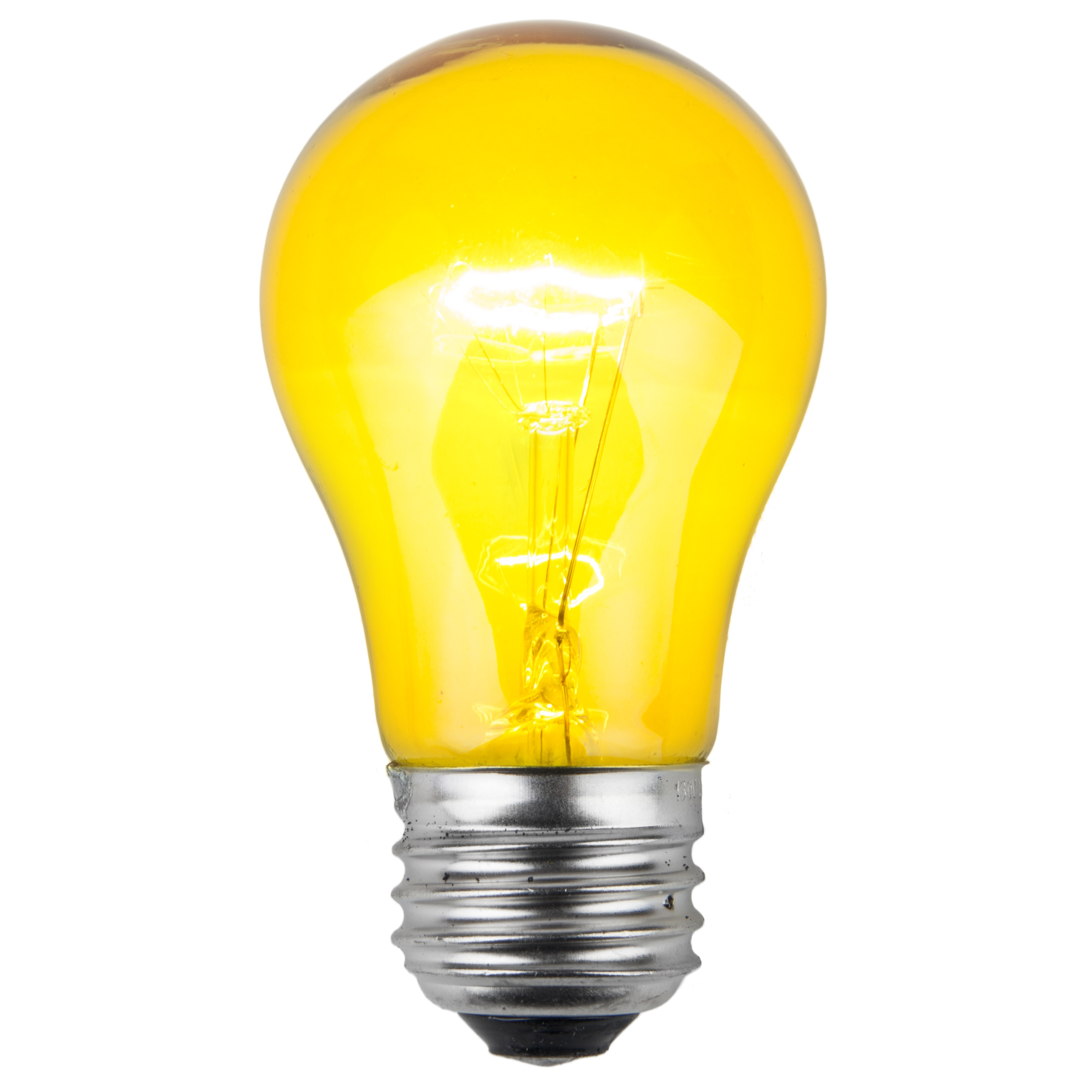 A15 Yellow Transparent Incandescent Bulb