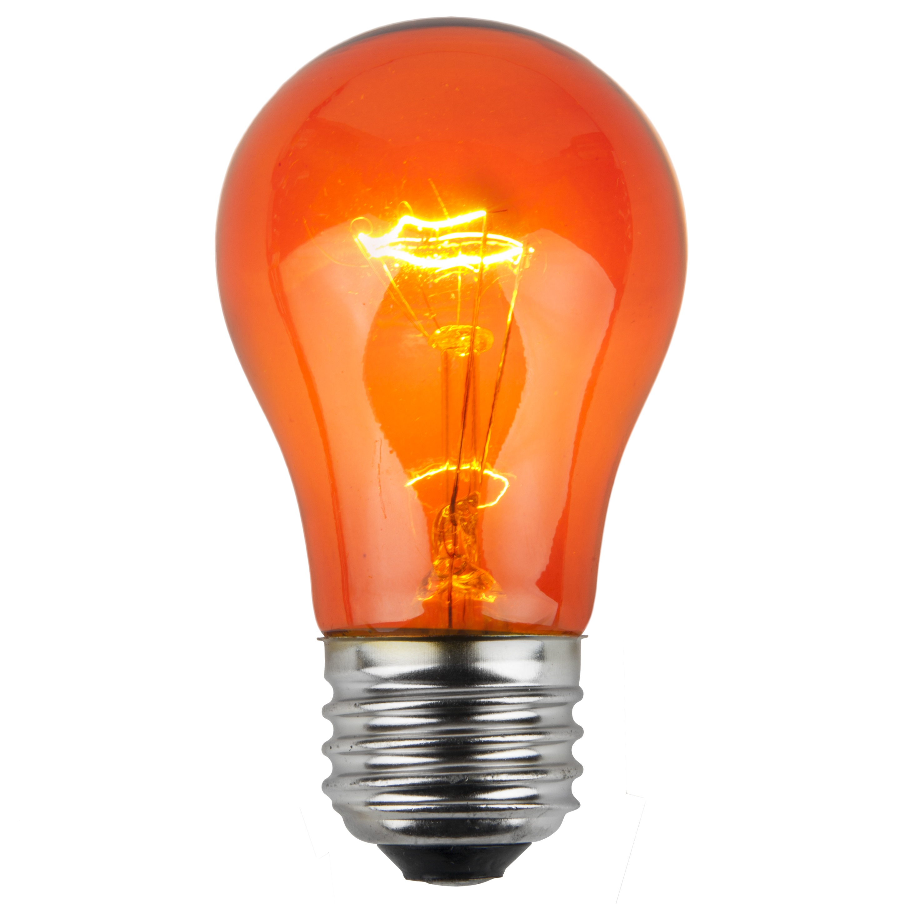 A15 Amber Transparent Incandescent Bulb