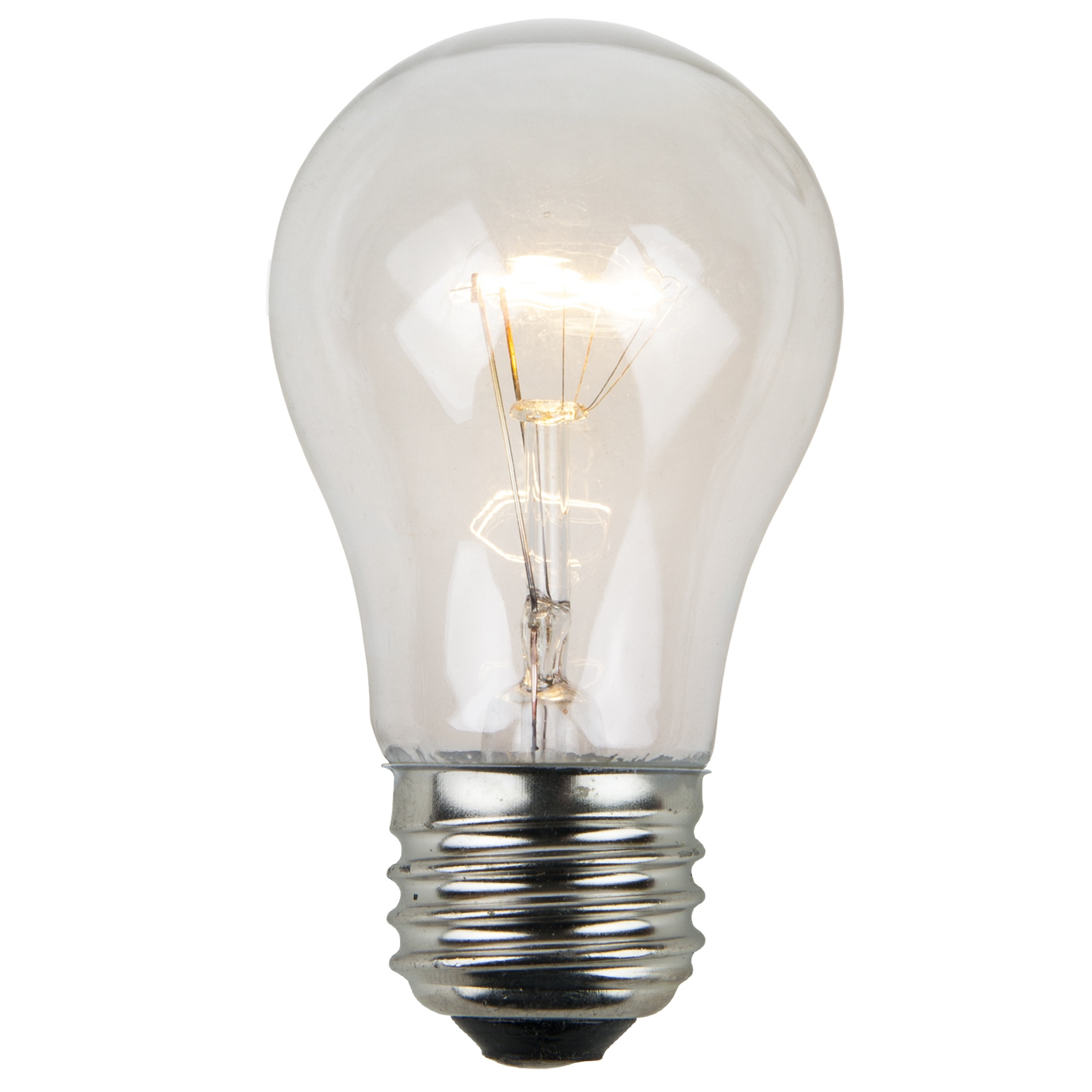 A15 Clear Transparent Incandescent Bulb