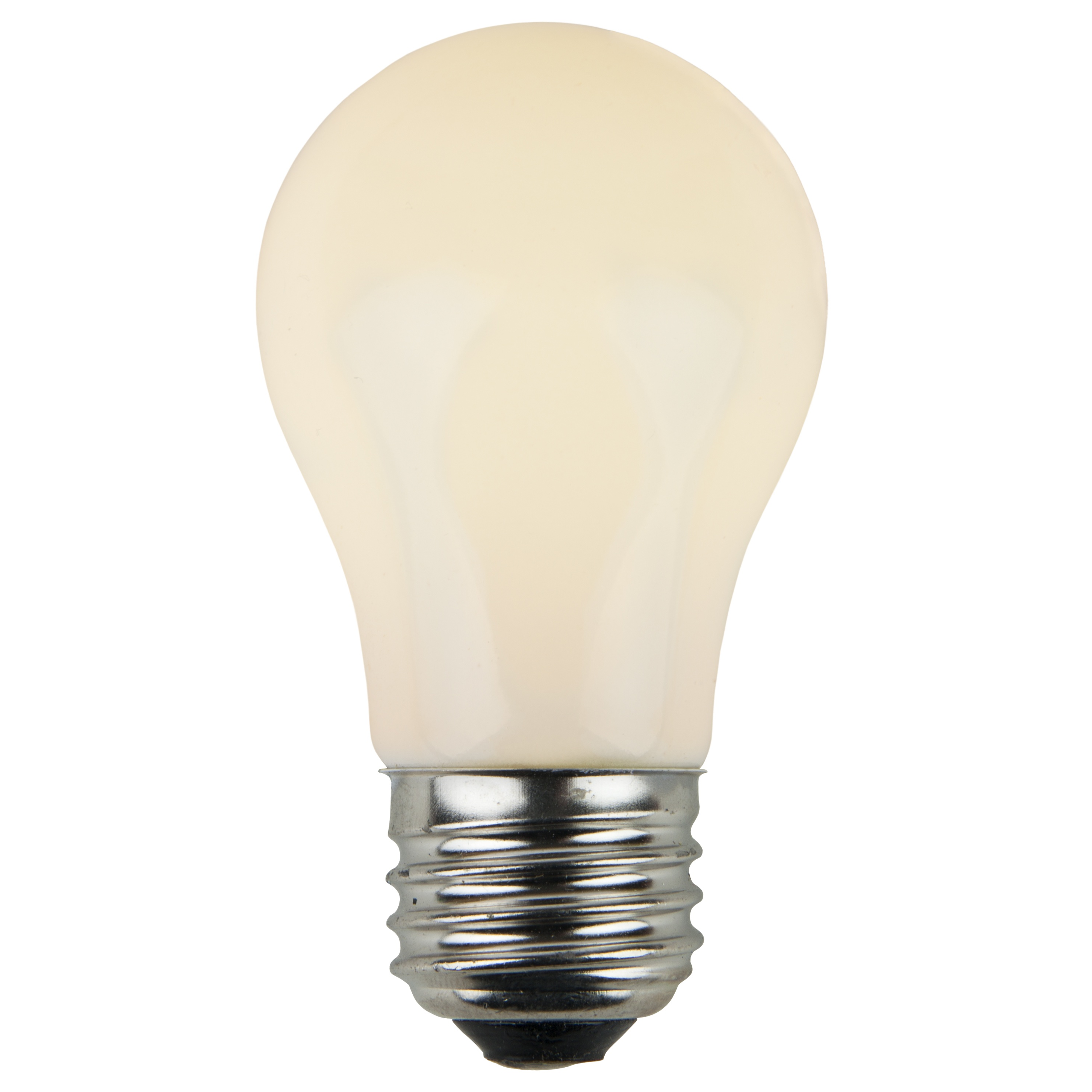 A15 White Opaque Incandescent Bulb