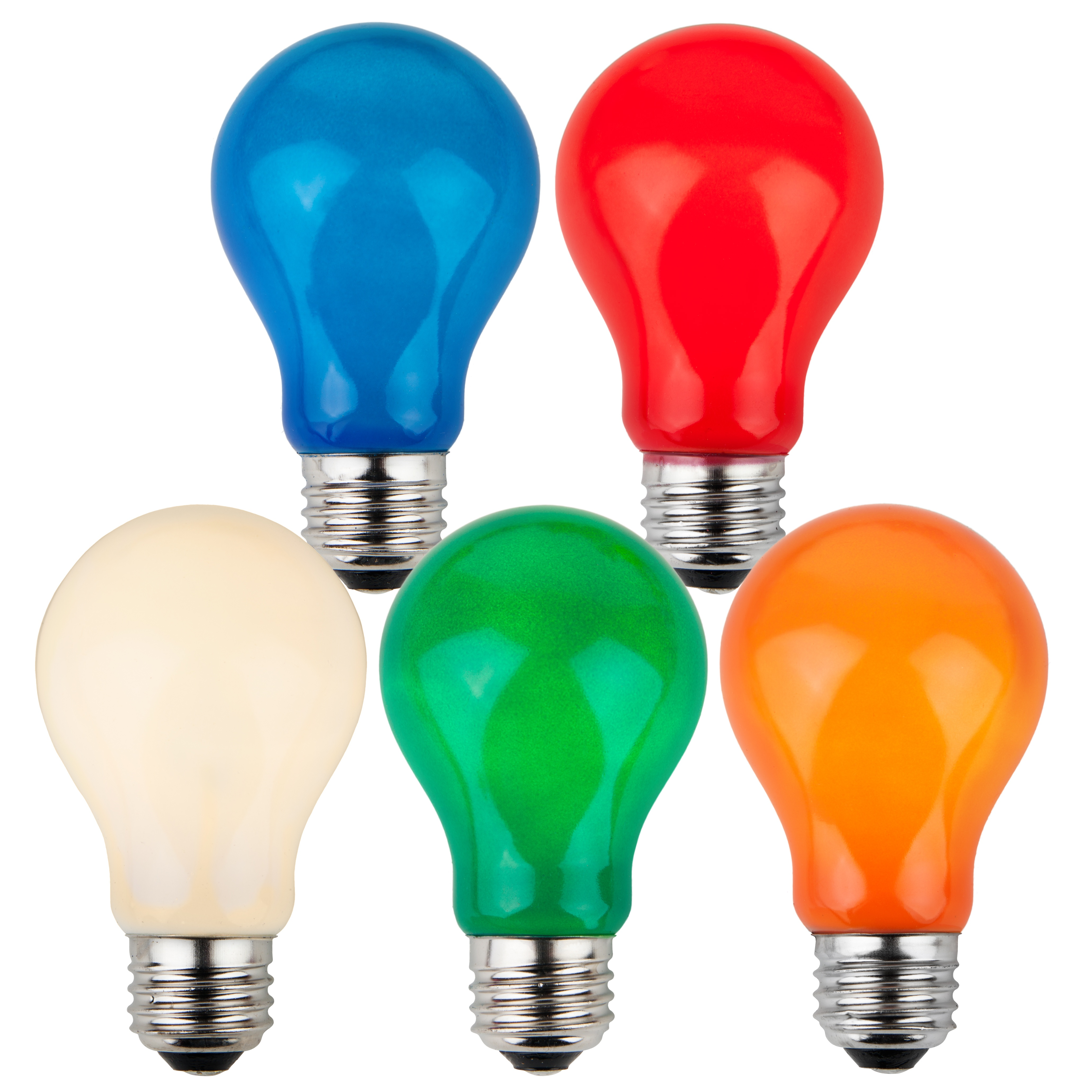 A19 Multicolored Opaque Incandescent Bulb