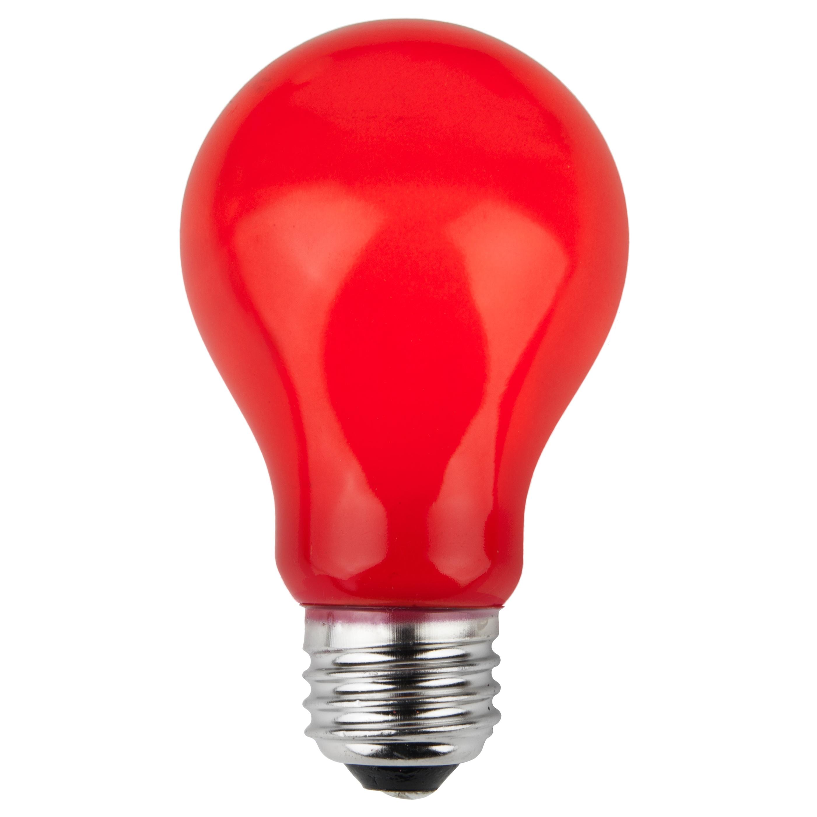 A19 Red Opaque Incandescent Bulb